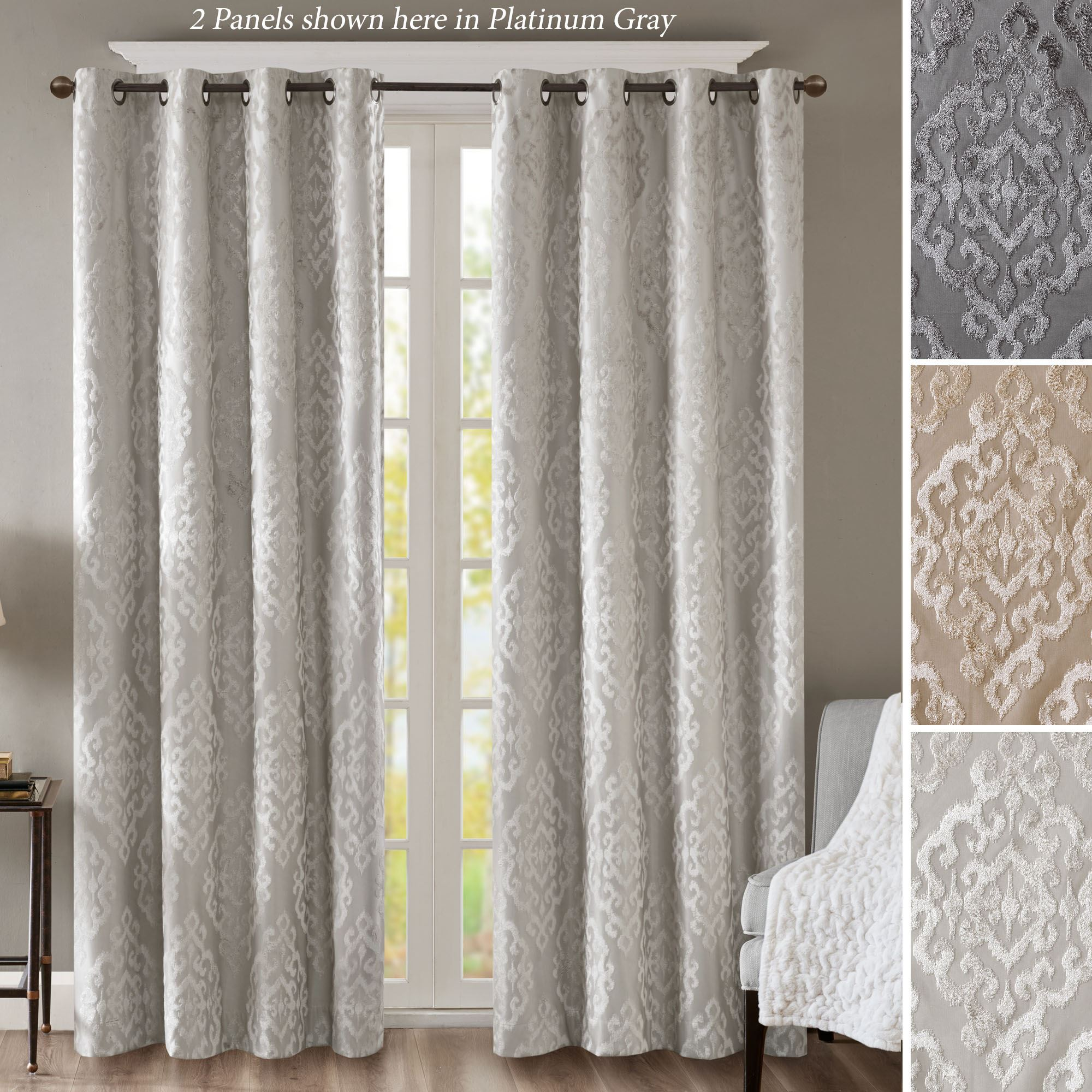 home garden orders free achim grommet curtain on drapes shipping over grommets product panel with lined grey overstock tranquil