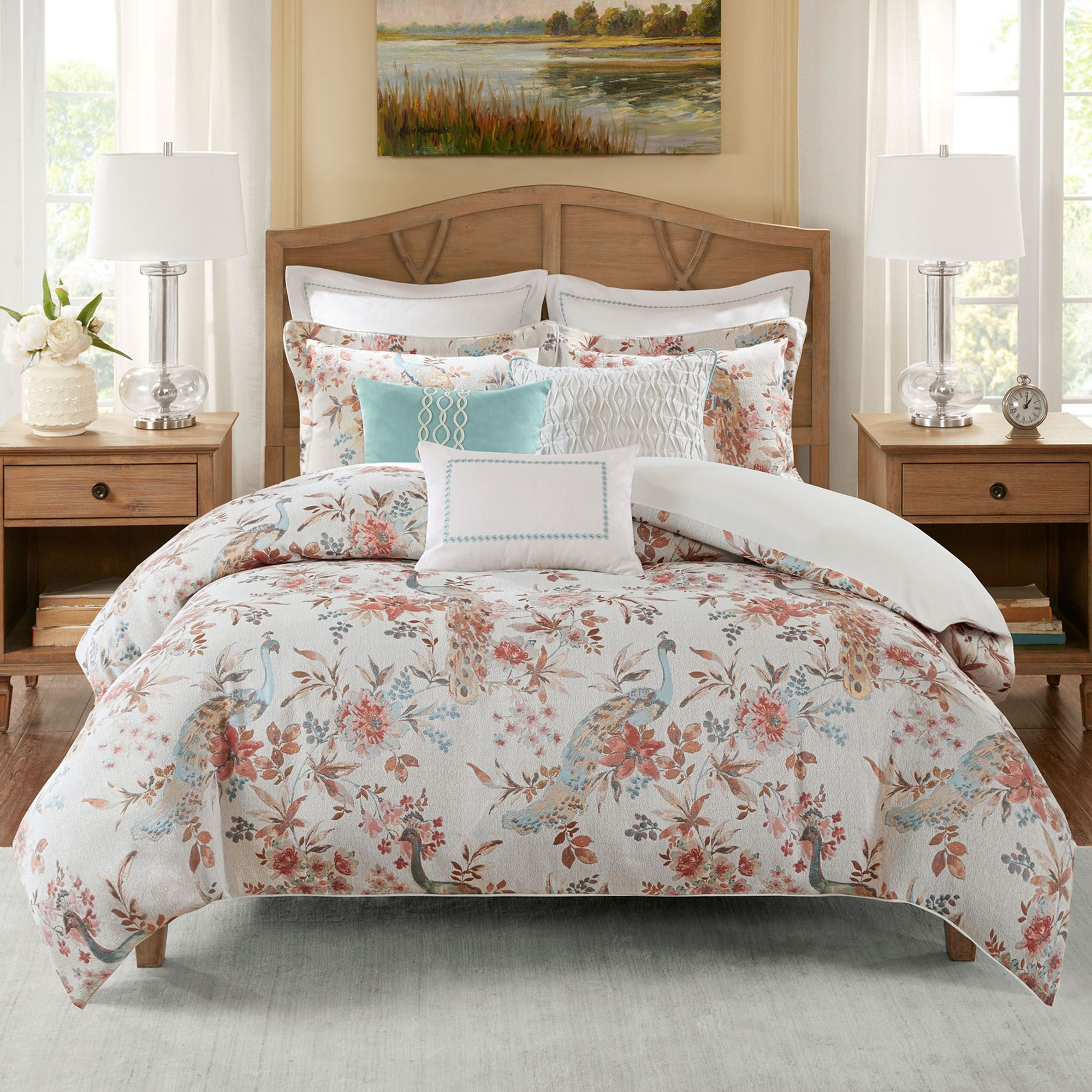 duvet cotton cover piece shipping bedding product bath set newport park madison free