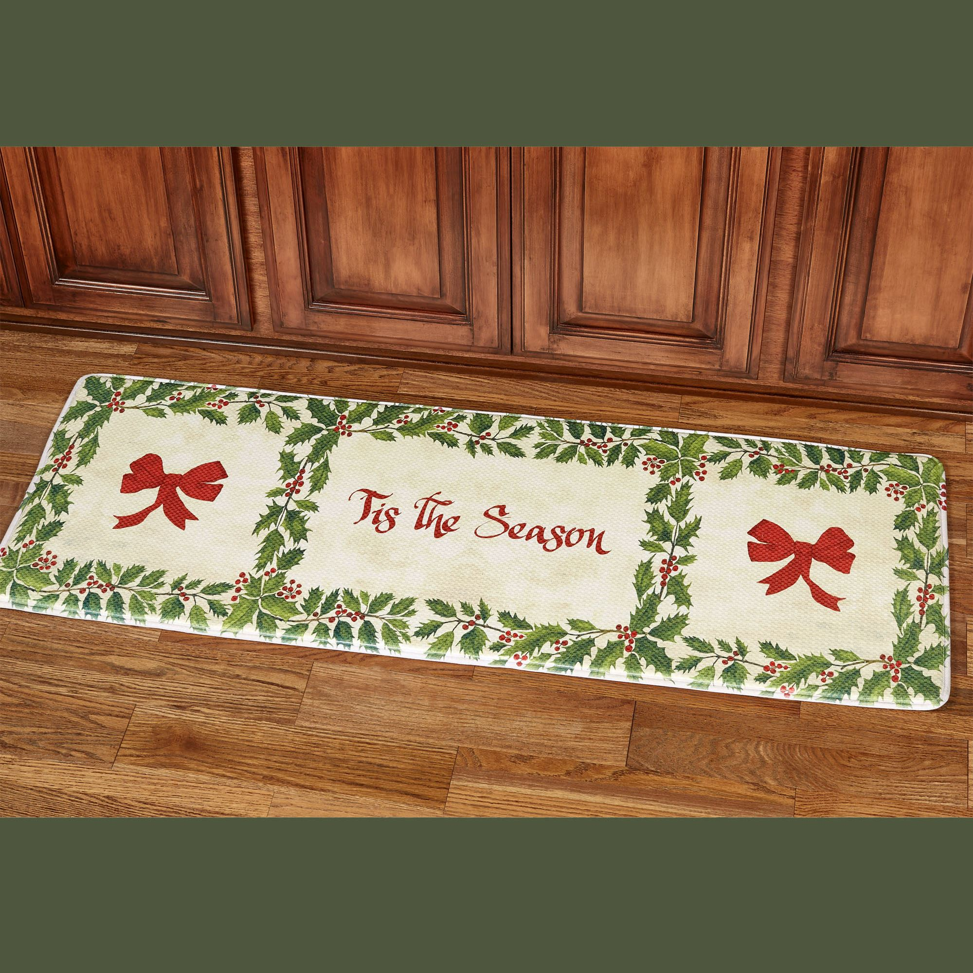 Tis The Season Memory Foam Cushioned Holiday Runner Mat