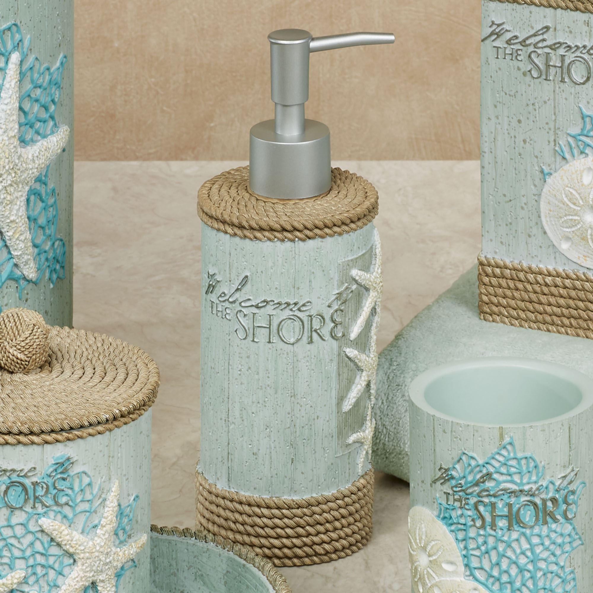 Beachcomber Lotion Soap Dispenser Celadon