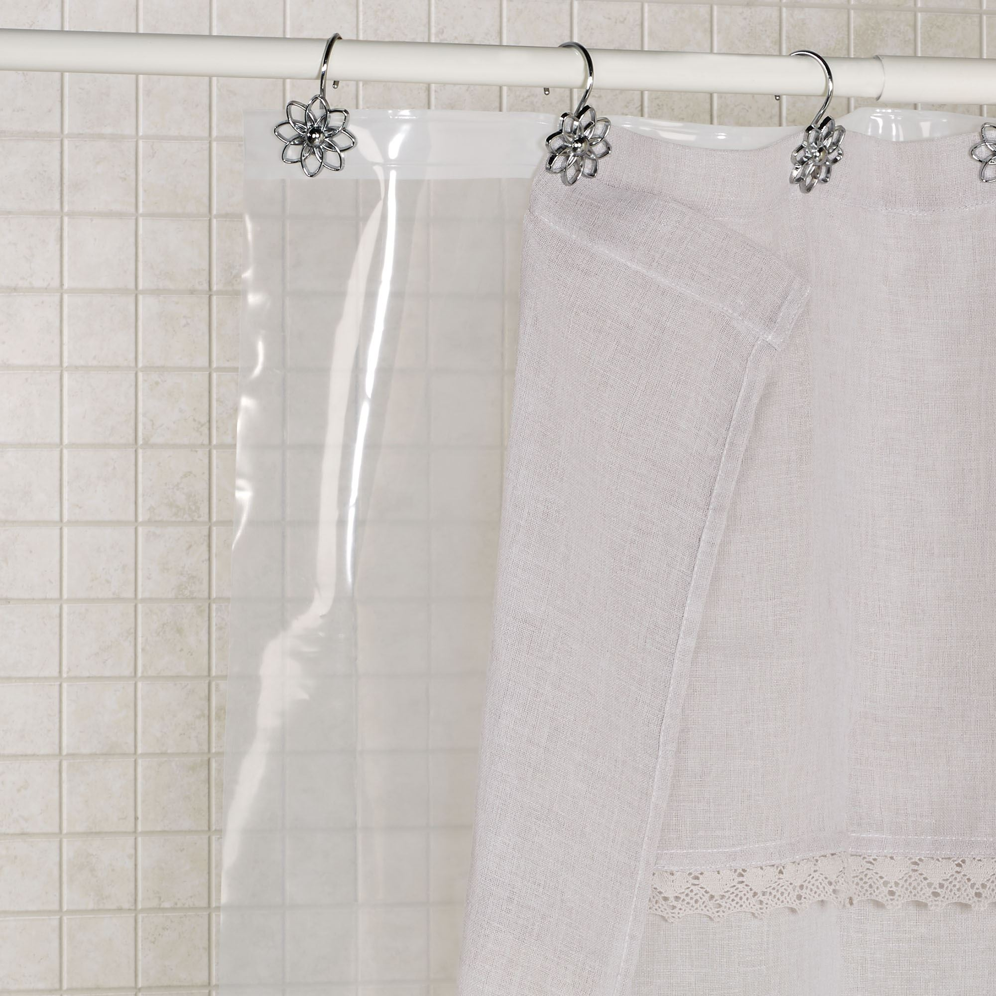 You Might Also Consider Sylvia Semi Sheer Shower Curtain