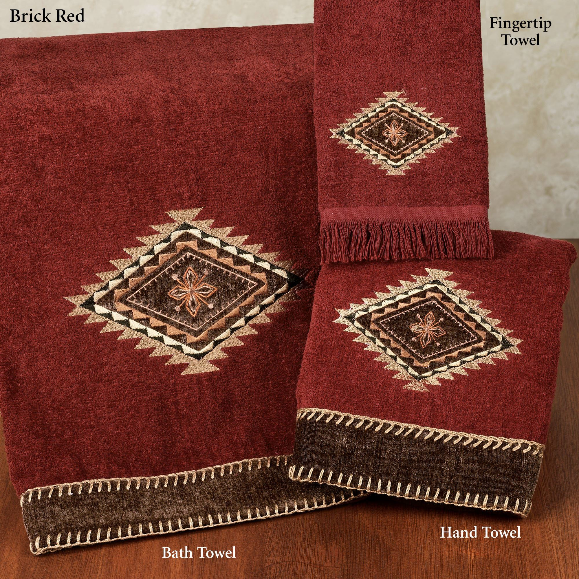 Mojave Bath Towel Brick Red