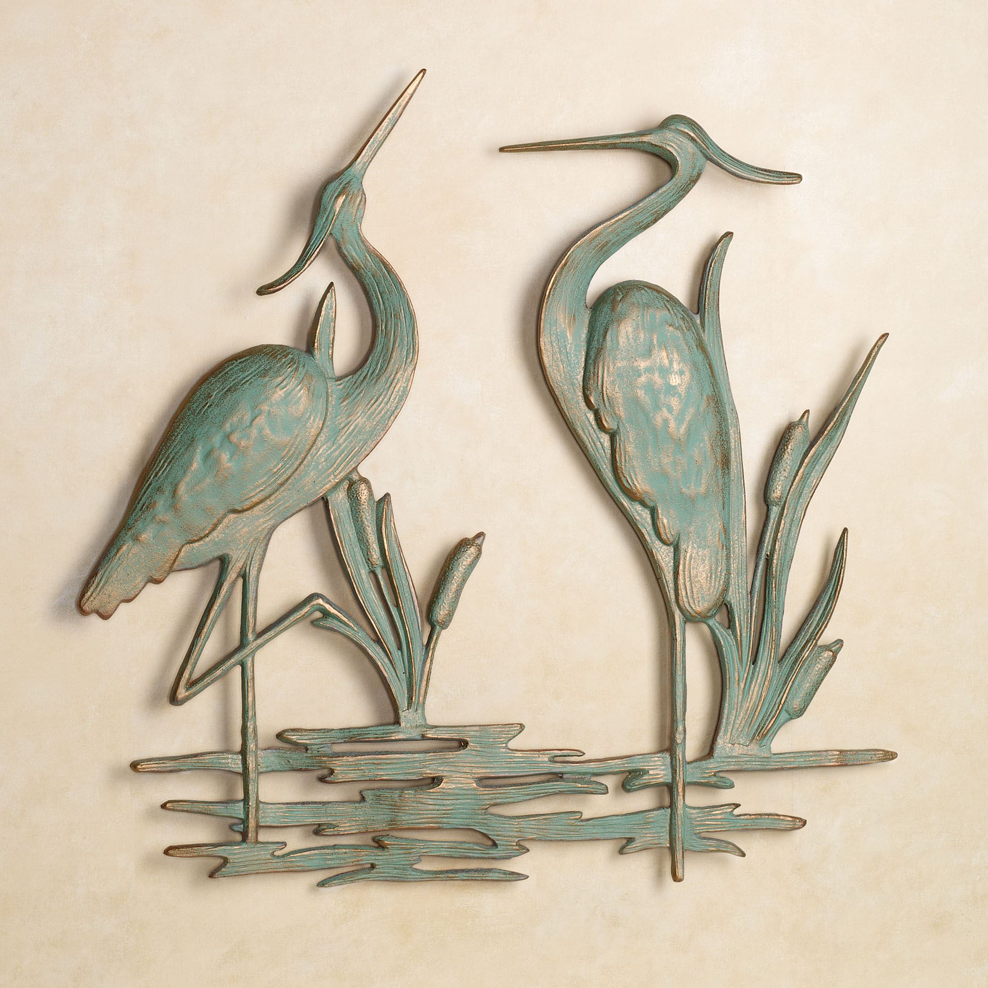 Outdoor Iron Art Heron Indoor Outdoor Metal Wall Art