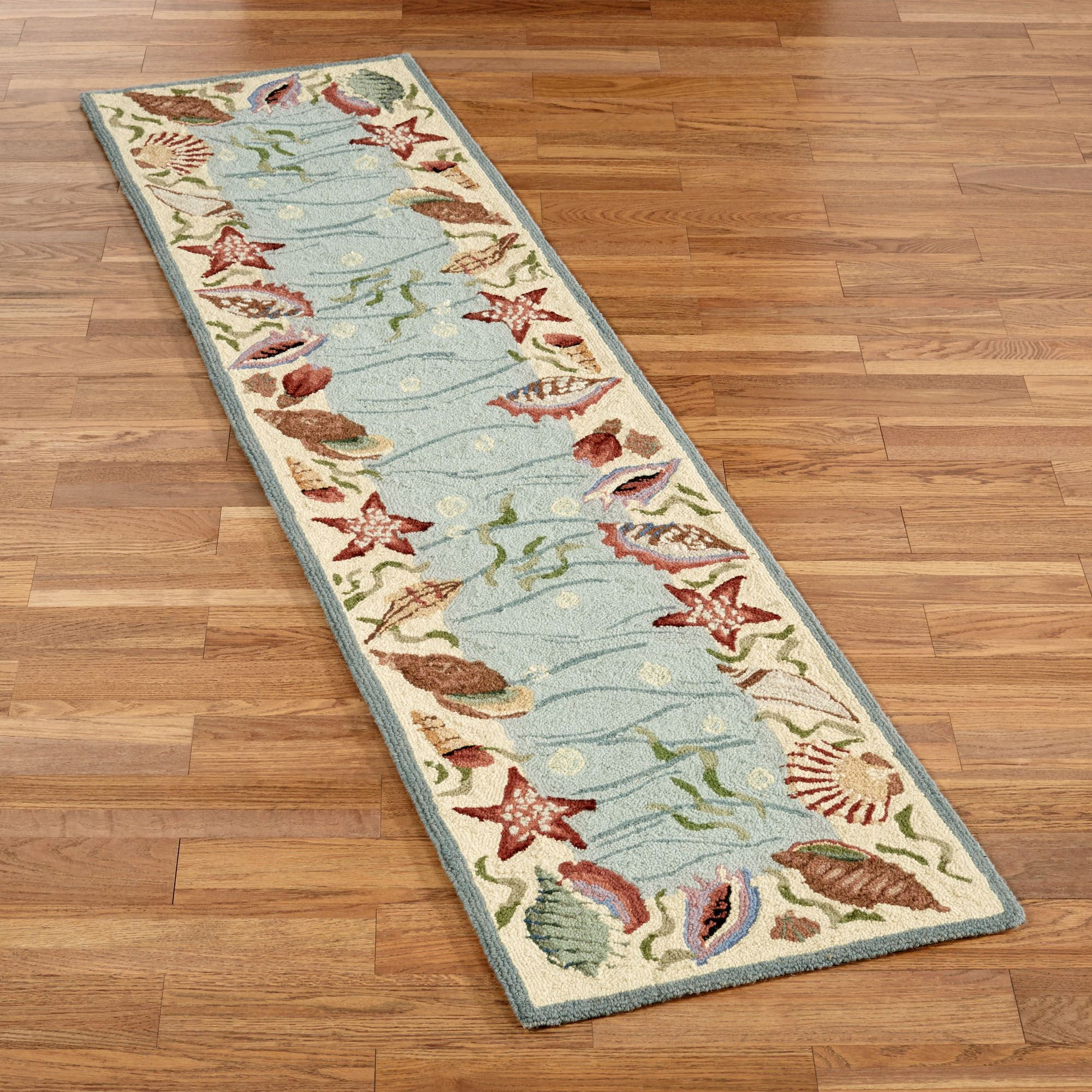 2x8 runner rug. Ocean Surprise Coastal Seas Rug Runner 2x8 K