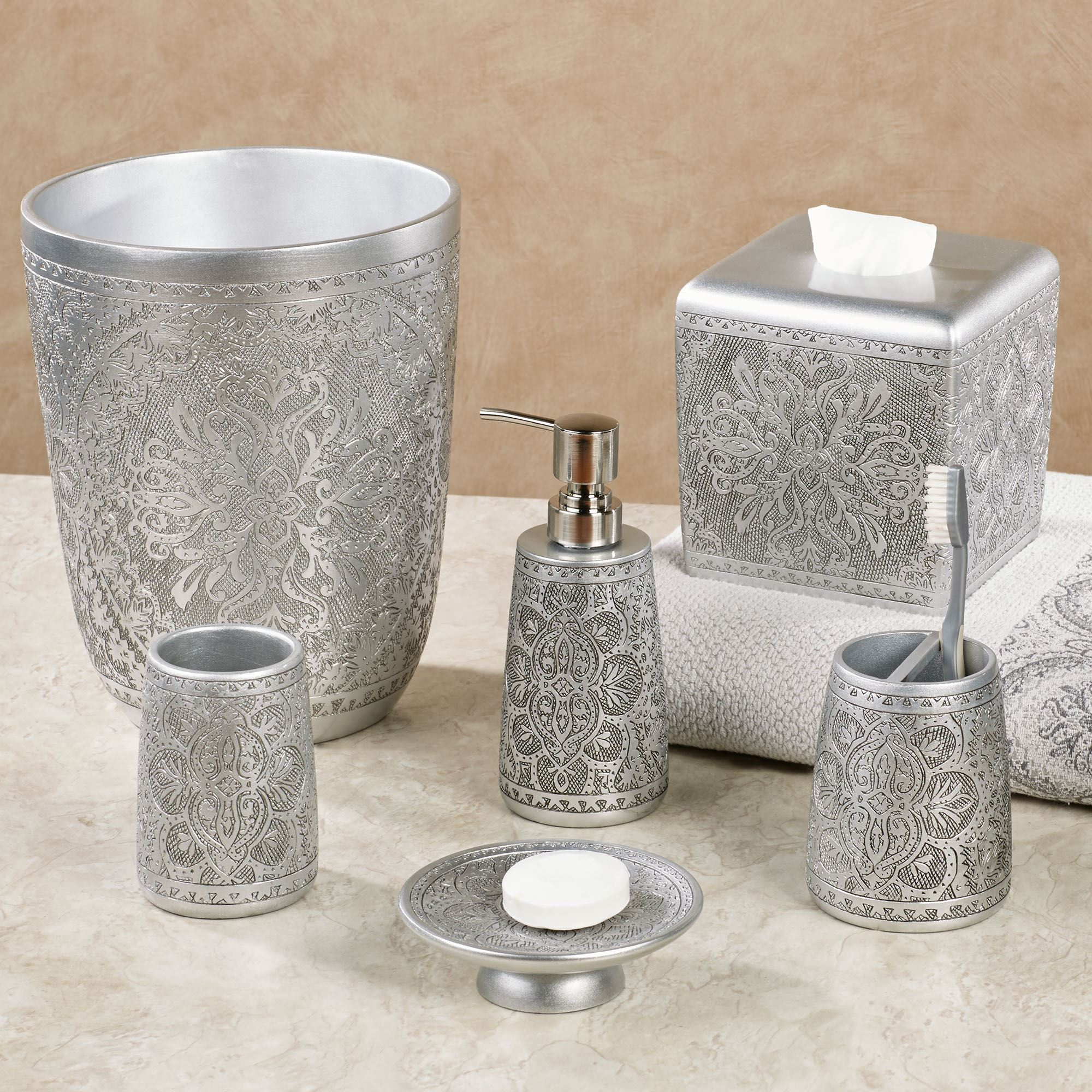 Bathroom accessory sets for less veratex coral reef bath for Coral reef bathroom decor
