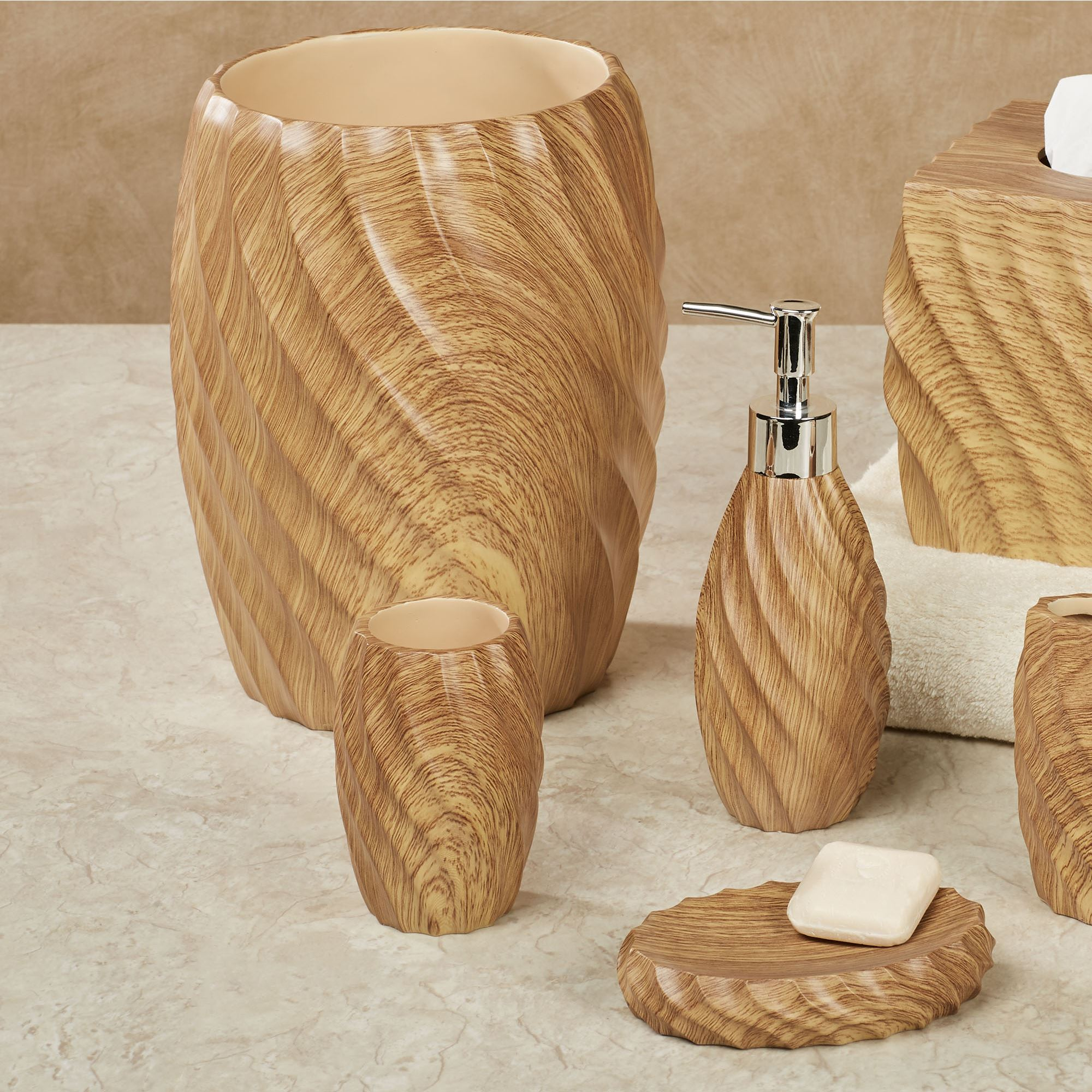 Wood Works Resin Bath Accessories