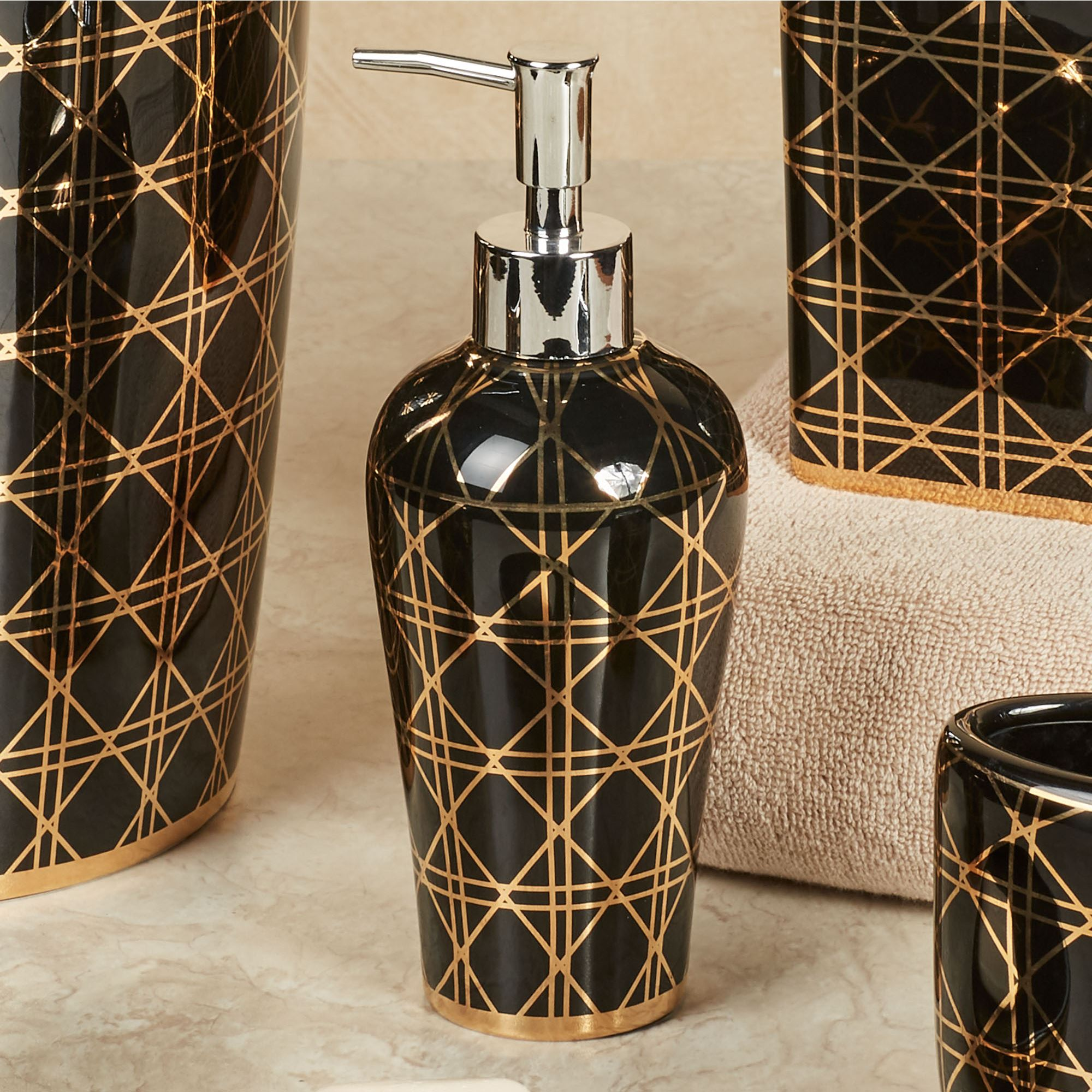 black and gold bathroom accessories. Beauty Lotion Soap Dispenser Black And Gold Bathroom Accessories