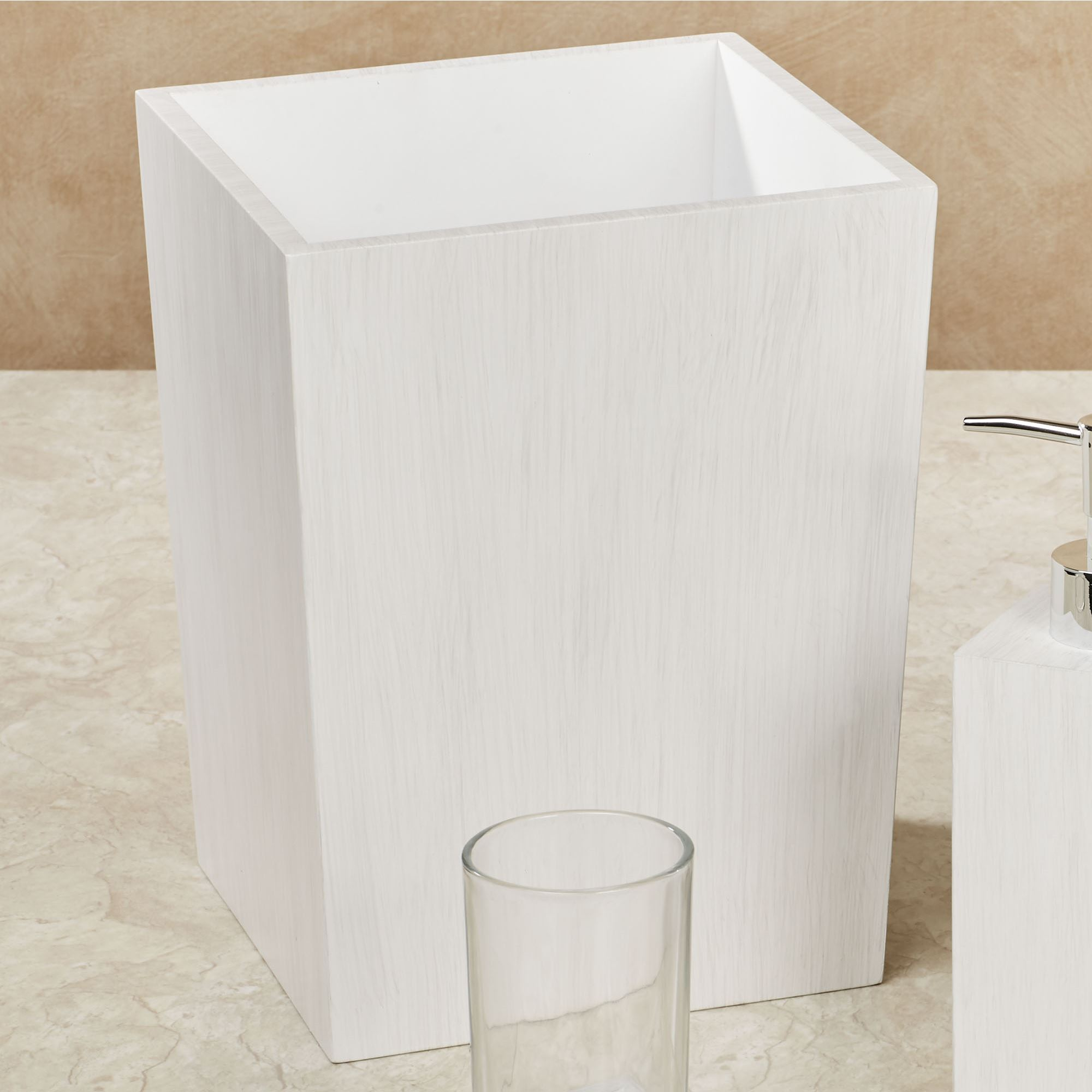 Beach House Whitewash Mango Wood Bath Accessories