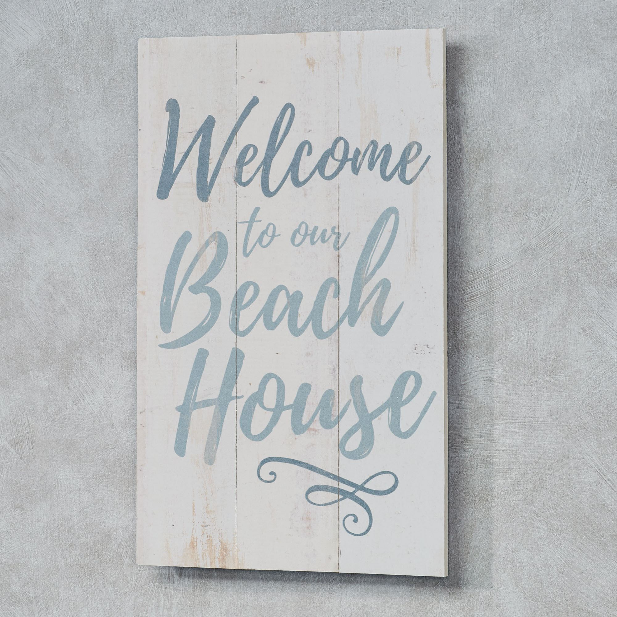 Welcome To Our Beach House Pallet Wood Coastal Wall Plaque Sign