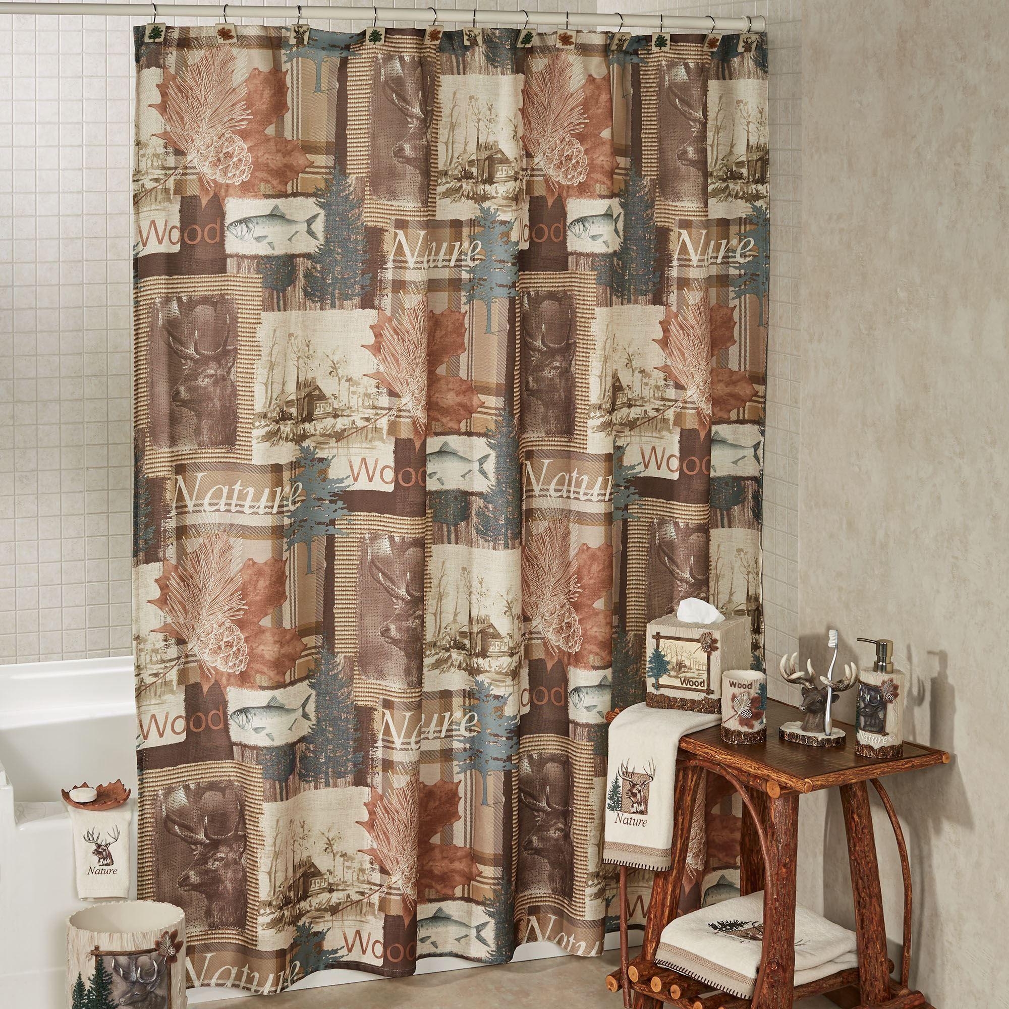 Nature Walk Shower Curtain Multi Warm 72 X