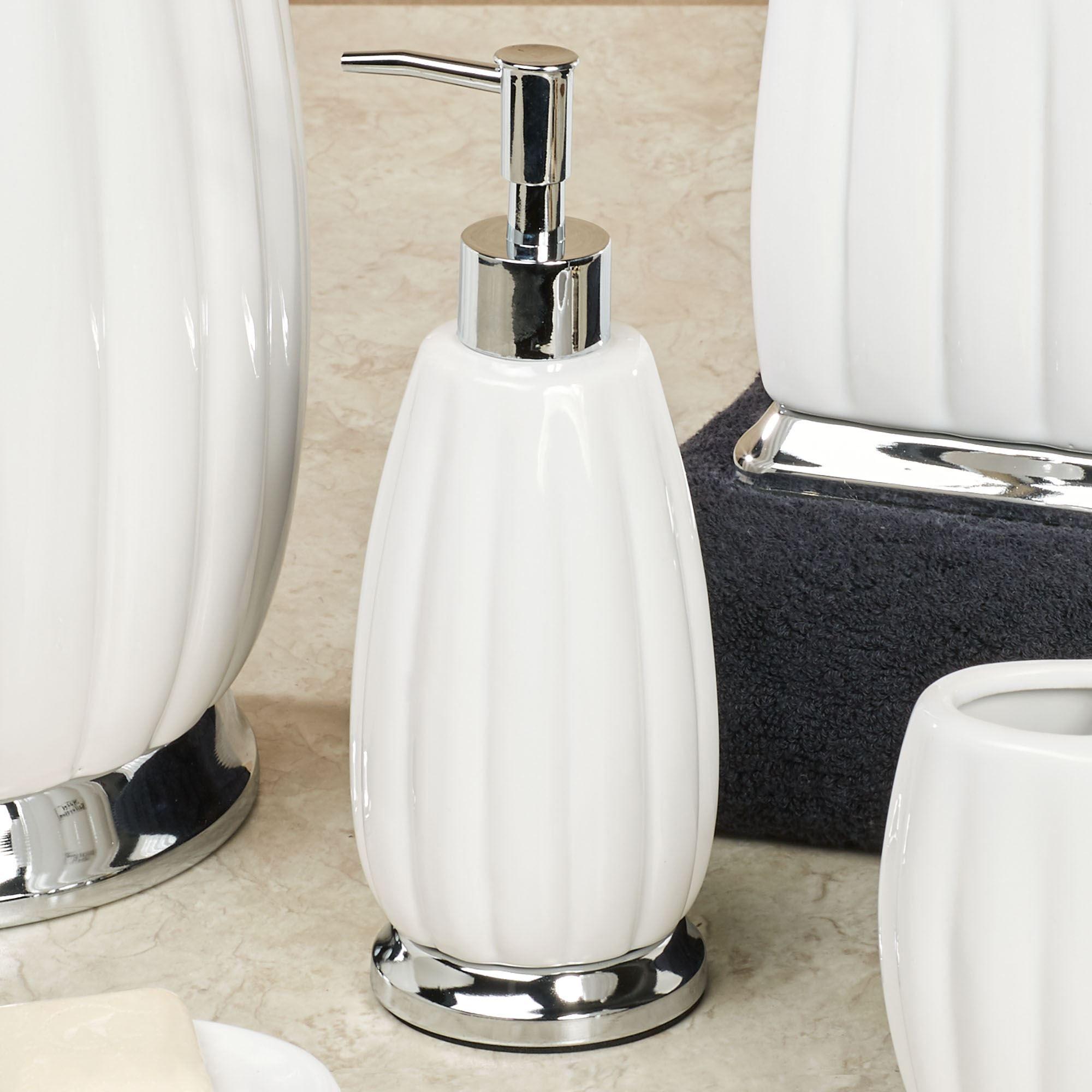 Sleek Off White Porcelain Bath Accessories