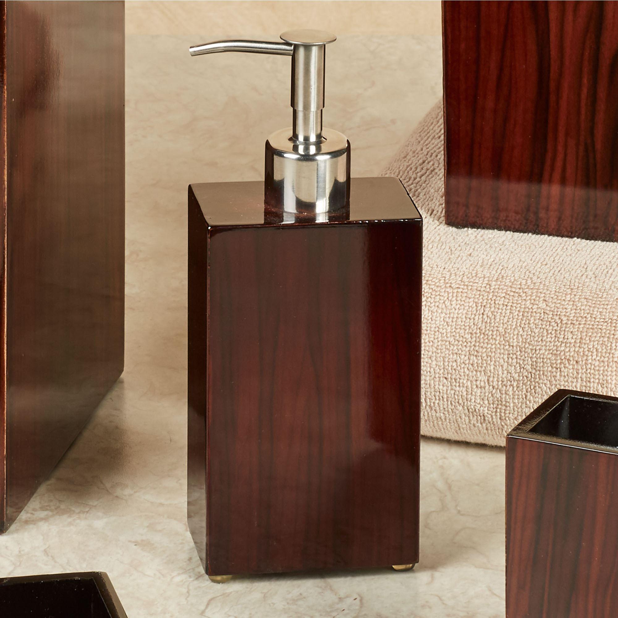 Madera Lotion Soap Dispenser Rich Mahogany