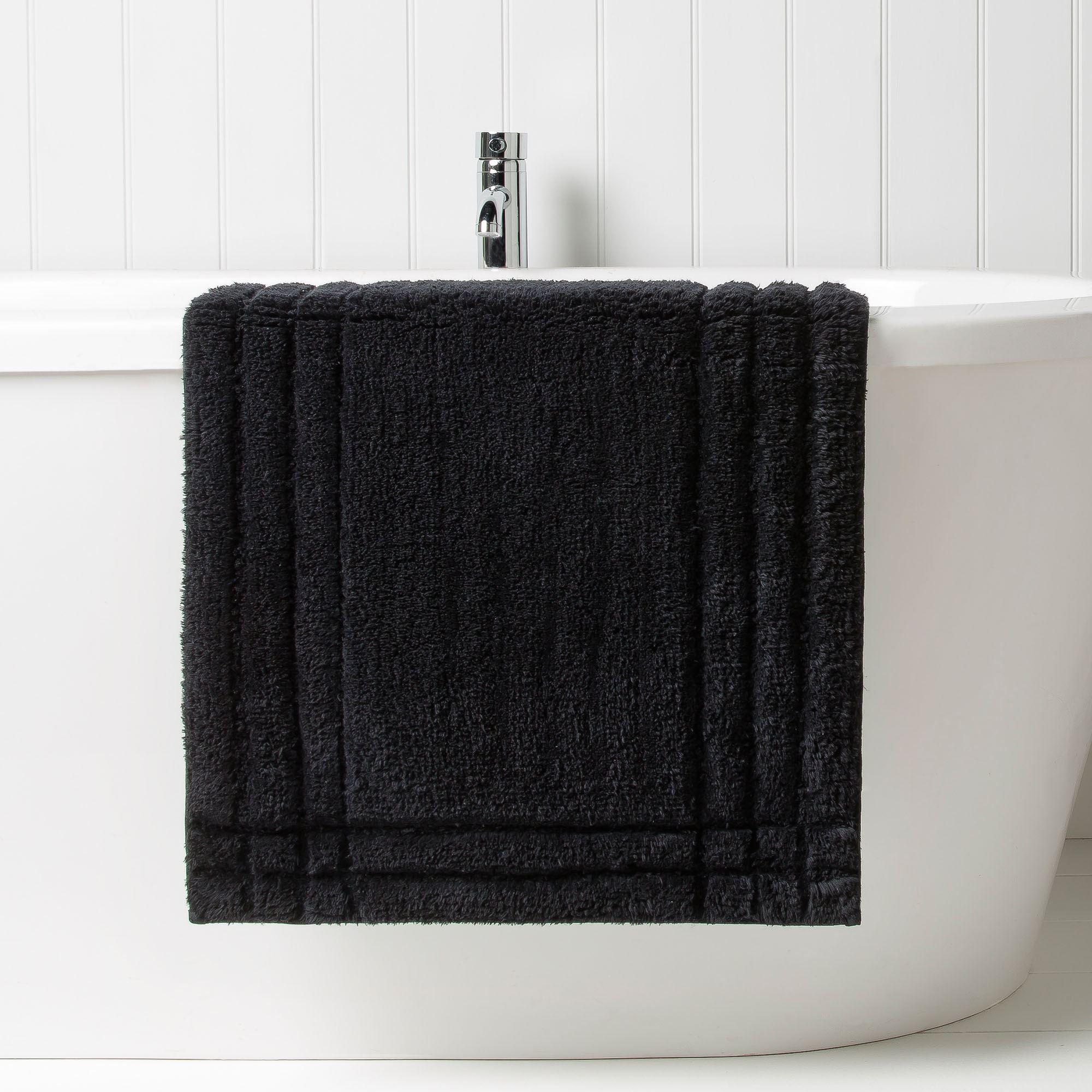 Christy Solid Color Cotton Nonskid Bath Rug