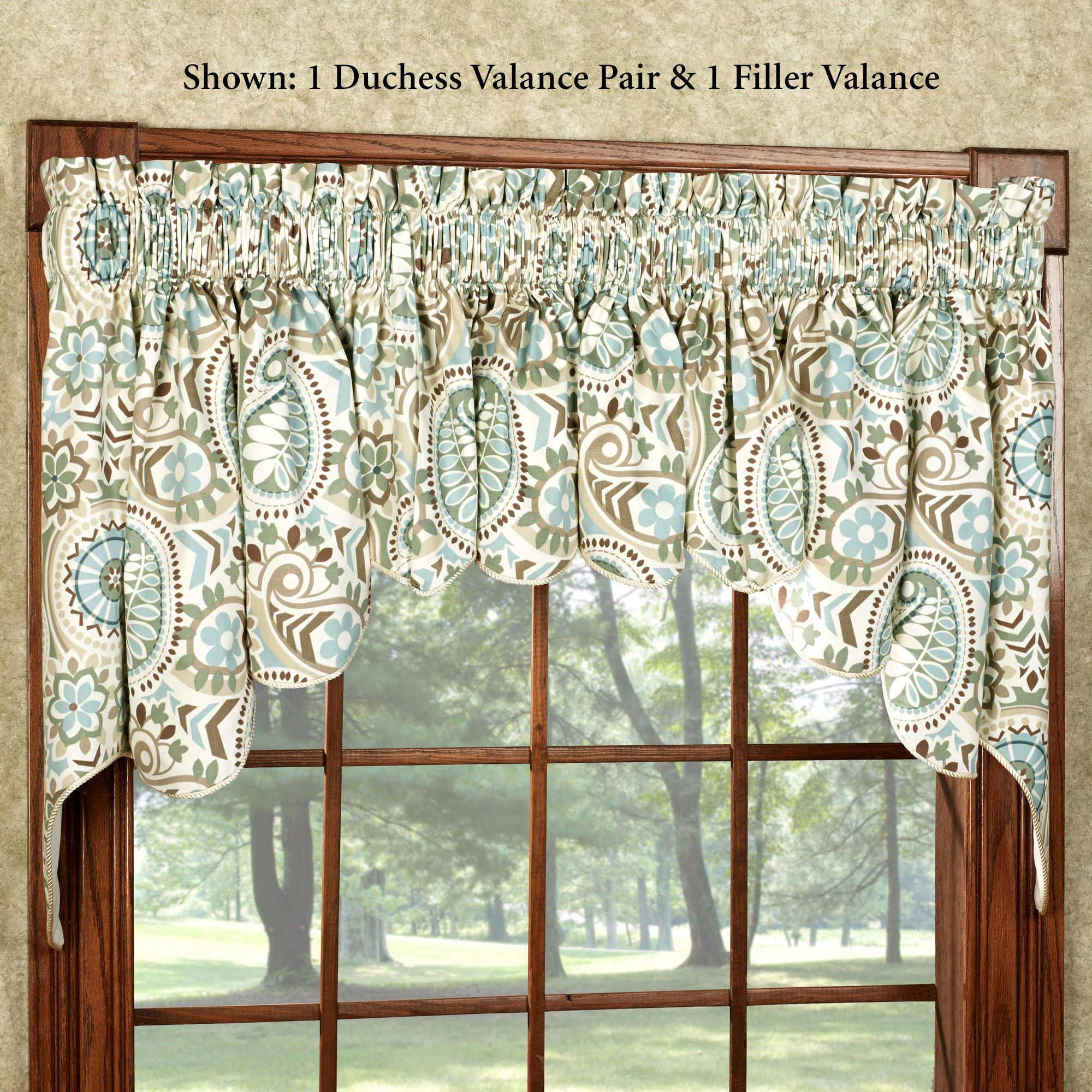 Paisley Prism Duchess Window Valances