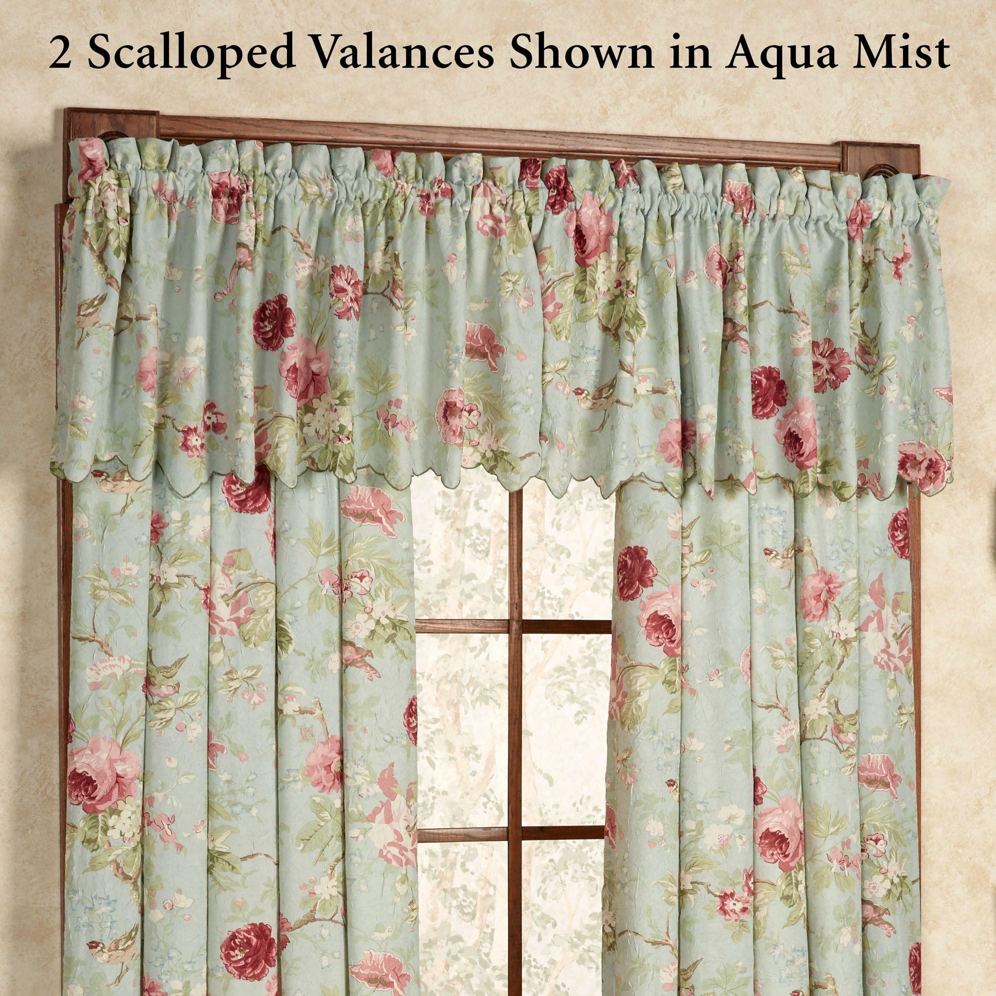 Balmoral Crushed Taffeta Floral Window Treatment