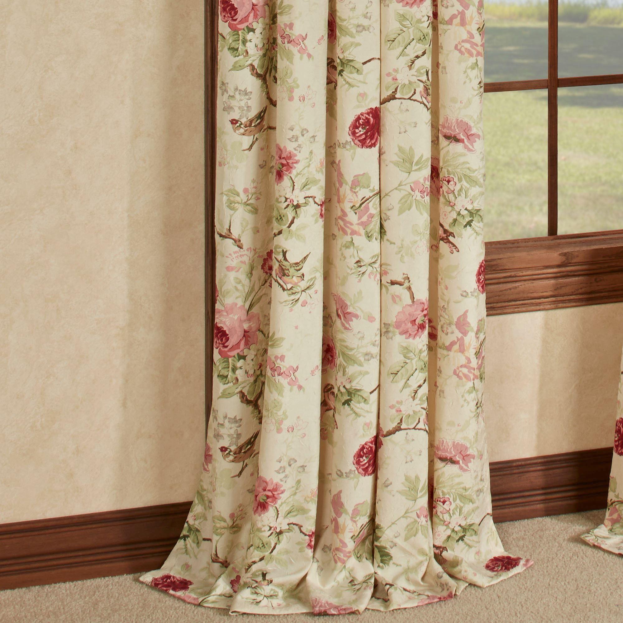 x p tab panel celine panels curtains curtain back jacobean treatment floral window