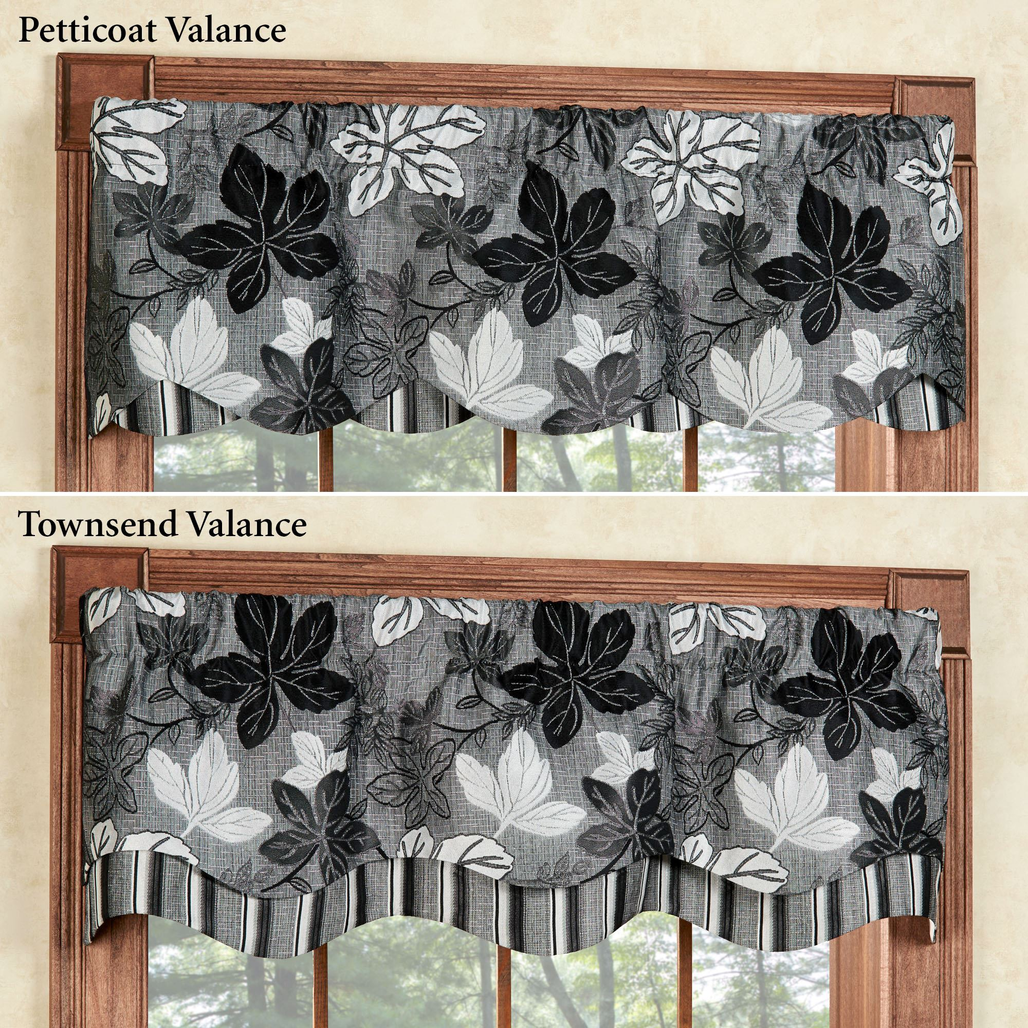 valances cording scalloped maison with ltd gray chenille usa valance bryce ip walmart belle com