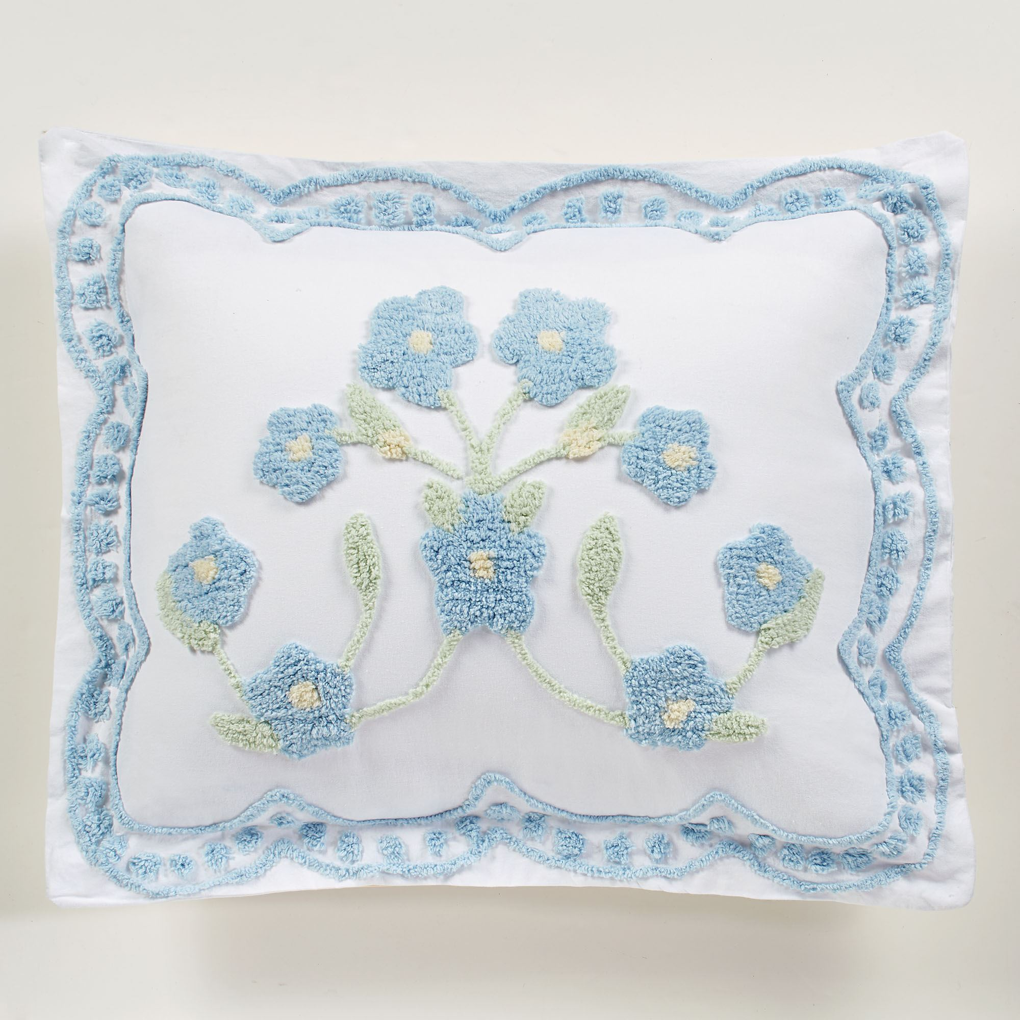 Cottage Bloom Floral Chenille Oversized Bedspread