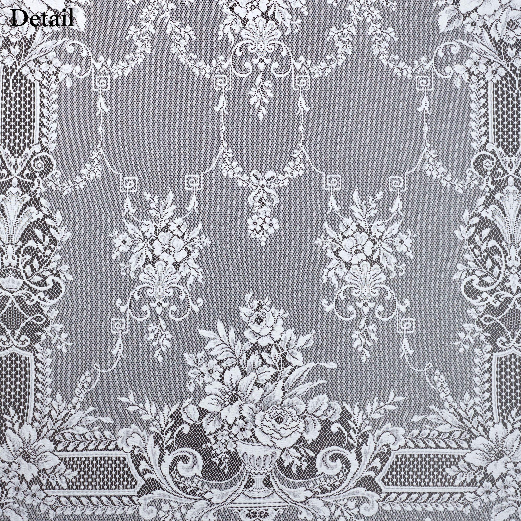 Aristocrat Lace Curtain Panel White