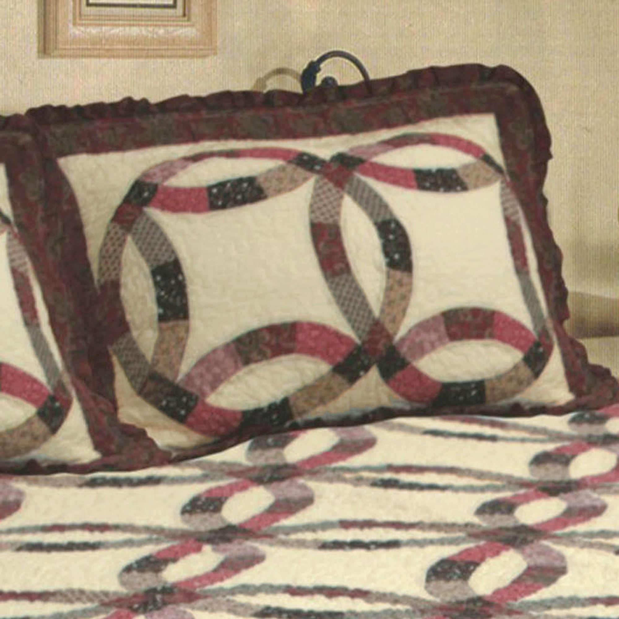 Heritage Cotton Wedding Ring Quilt Bedding