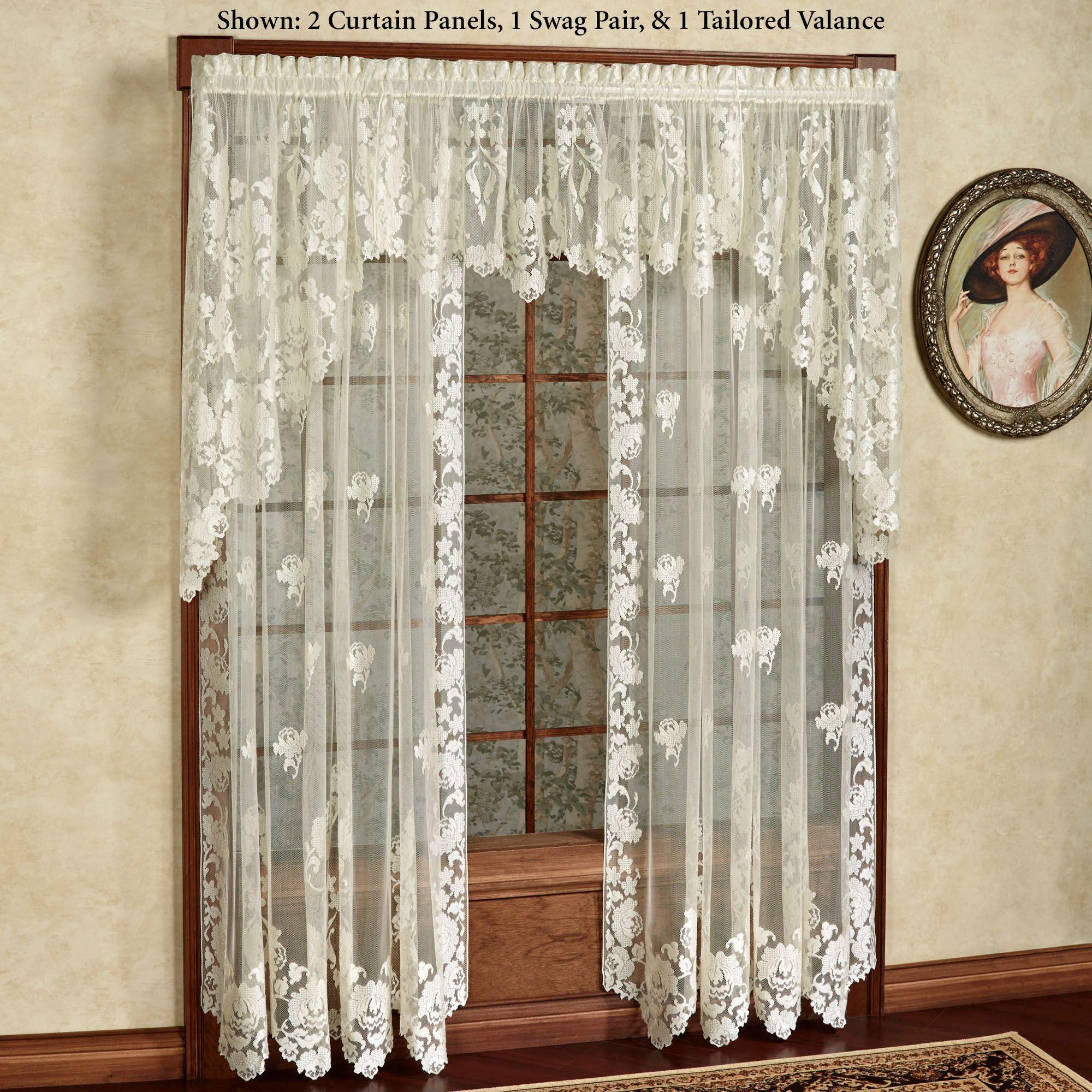 Windsor Floral Lace Window Treatment