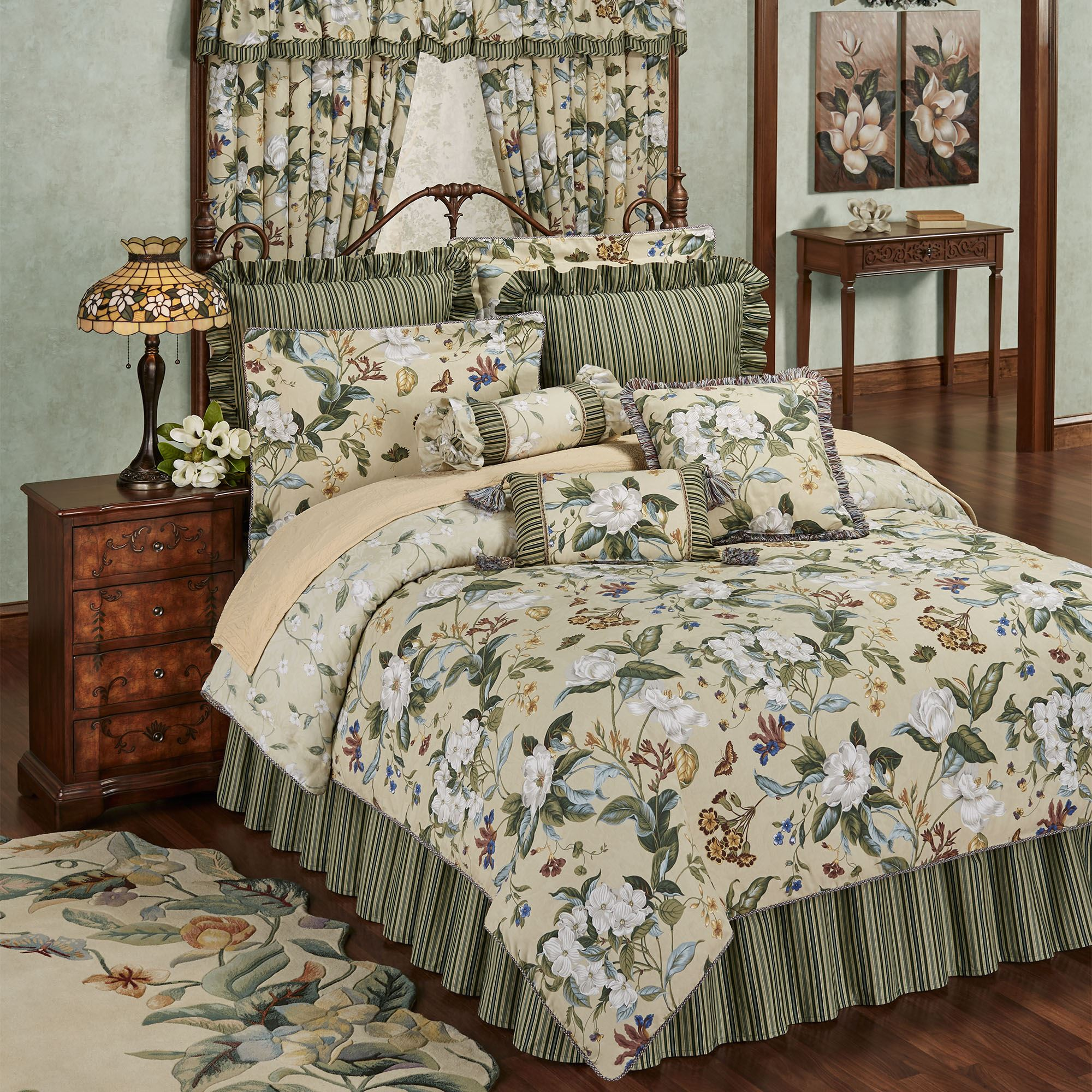 Details about  /Harvest Quilted Bedspread /& Pillow Shams Set Wooden Table Foods Print