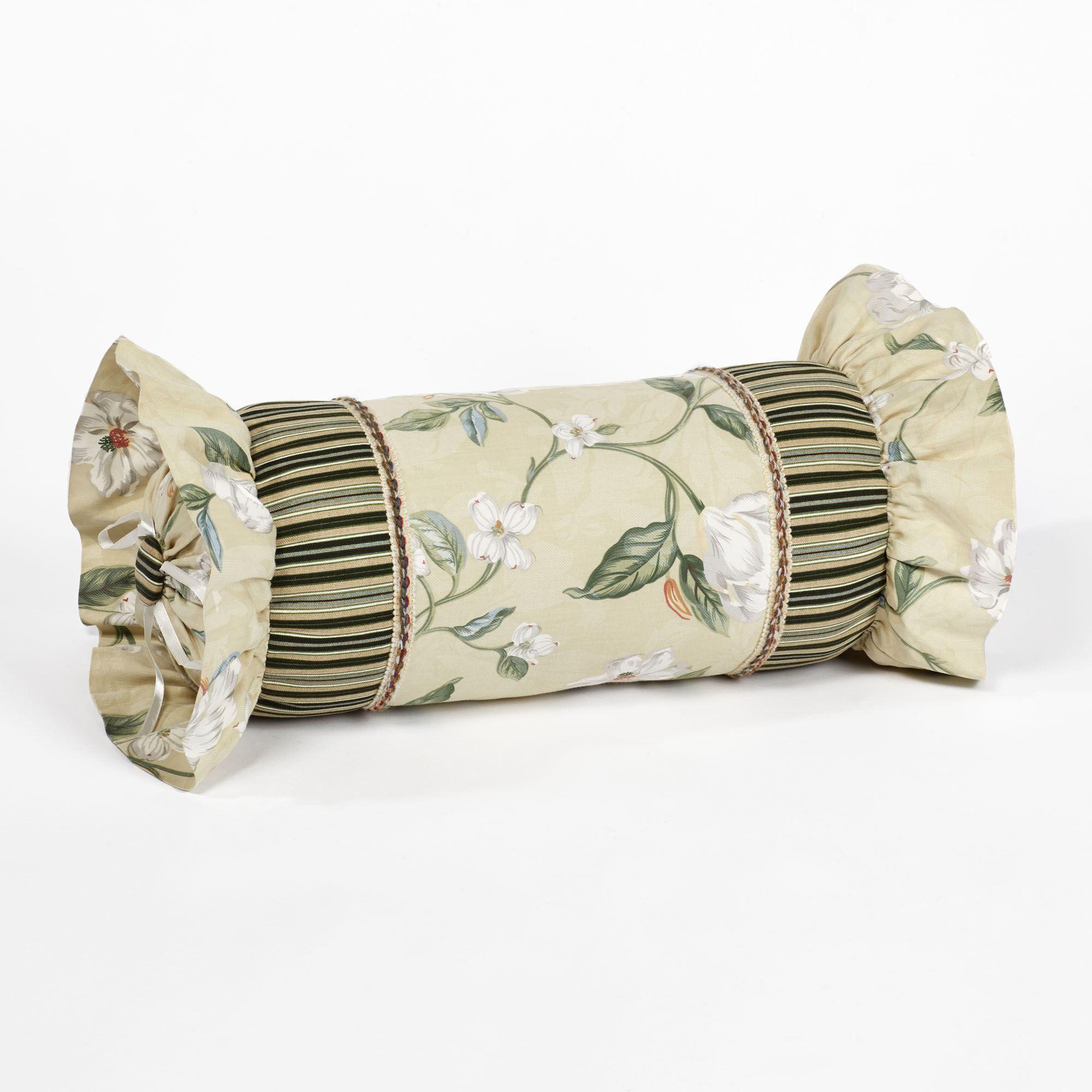 Garden Images III Neckroll Pillow Parchment