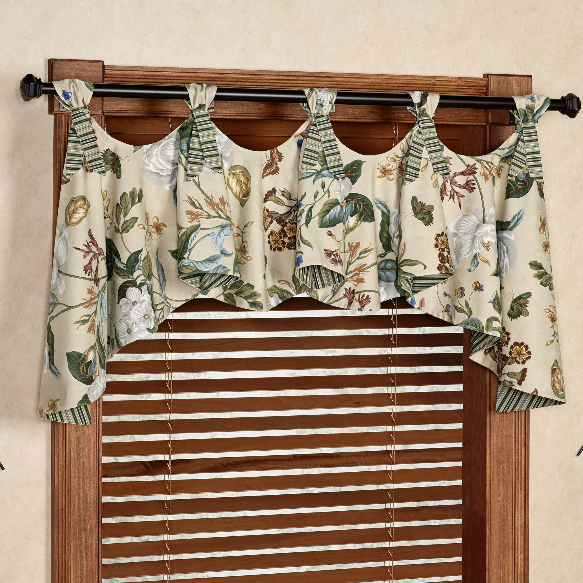 b rod pack beautyrest taupe window scarves l pocket home the treatments valances n depot valance