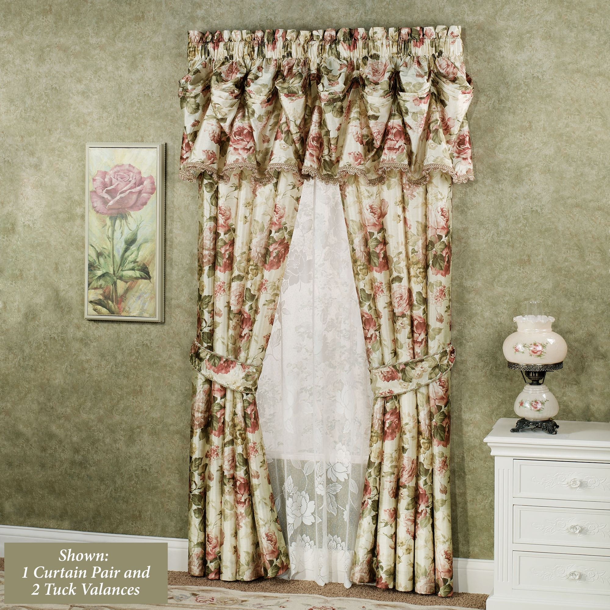 and curtains for corner valances with treatments rod windows window jcpenney other special bay combine valance curtain