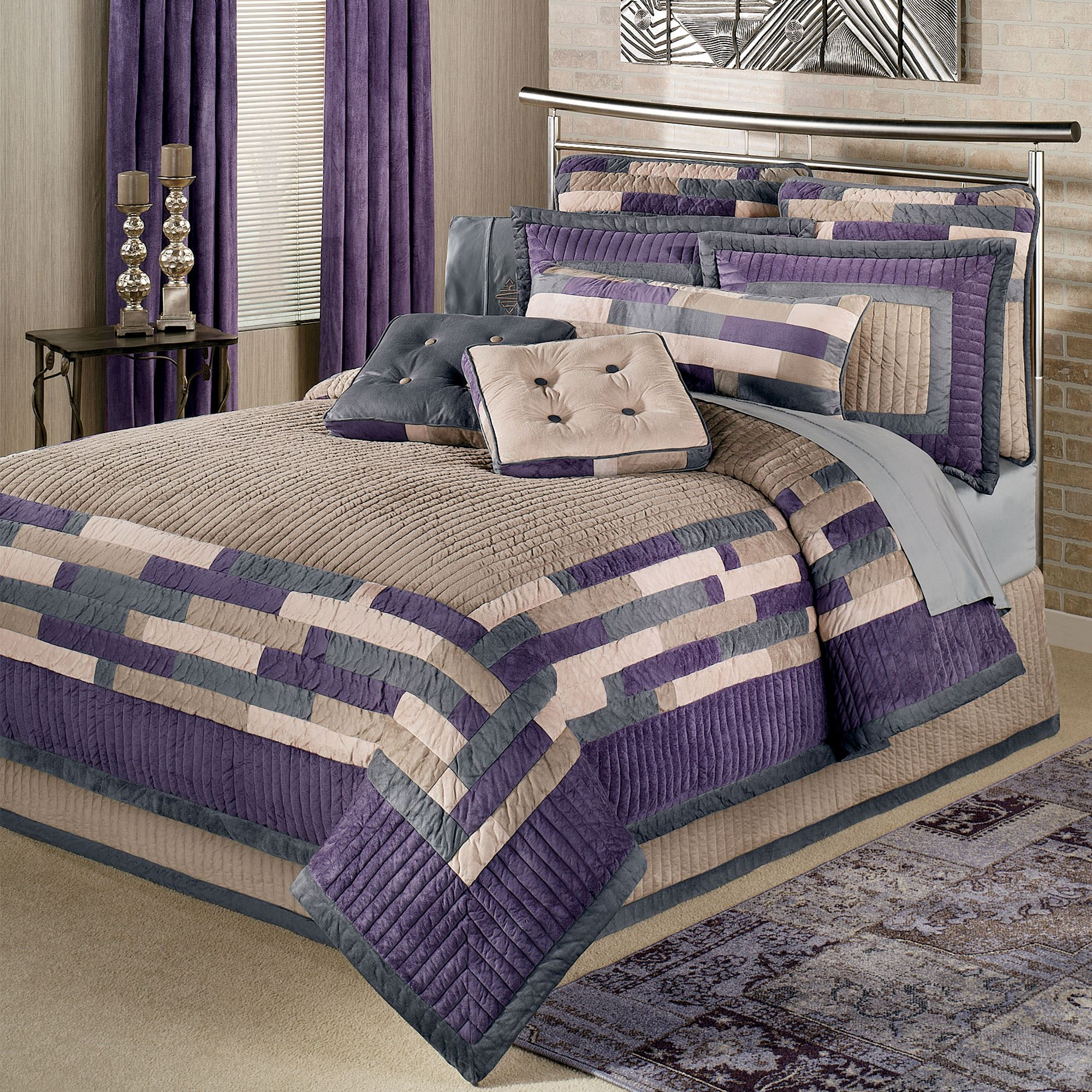bed and set product purple linen cover modern bedding contemporary duvet quilt