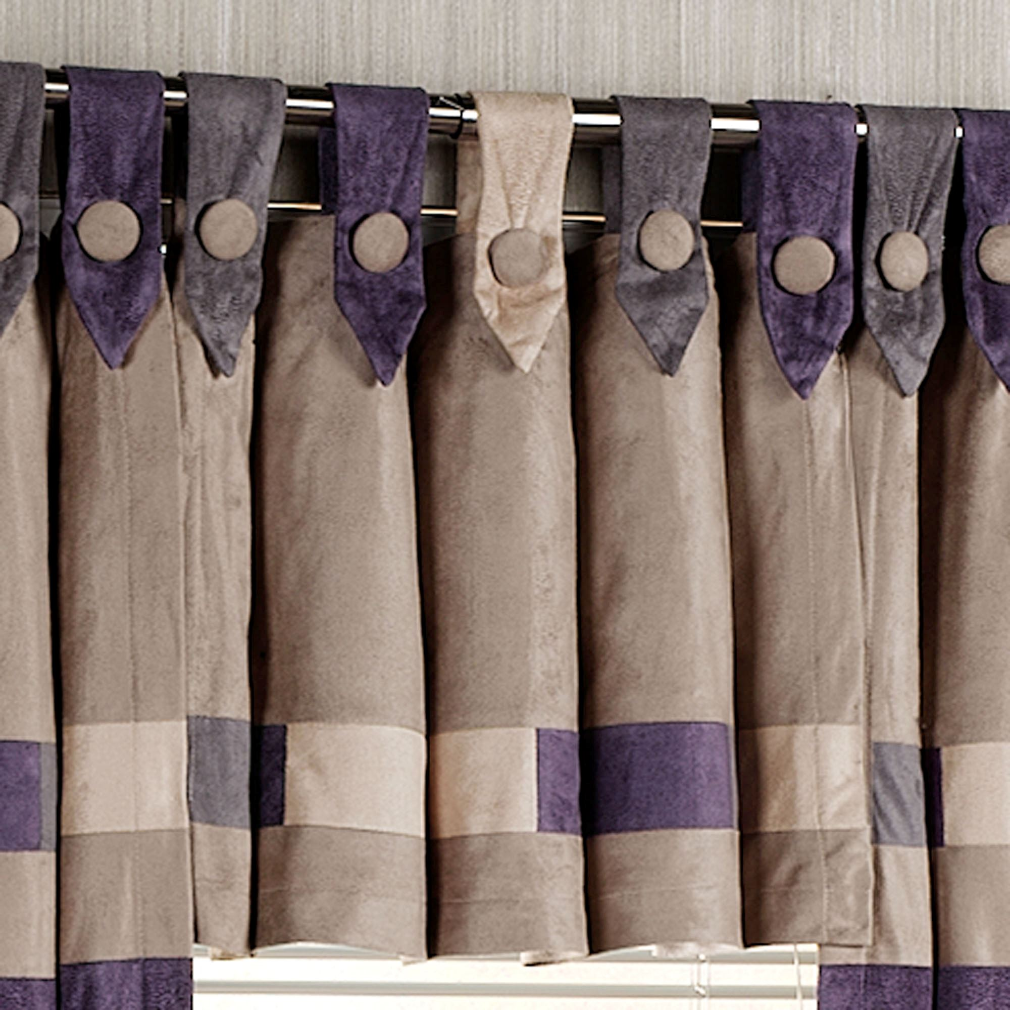 window beige purple garden home optional with curtain voile ruffle tiers valances product and overstock pieces crushed shipping orders elegant separates blue valance pink over free on white