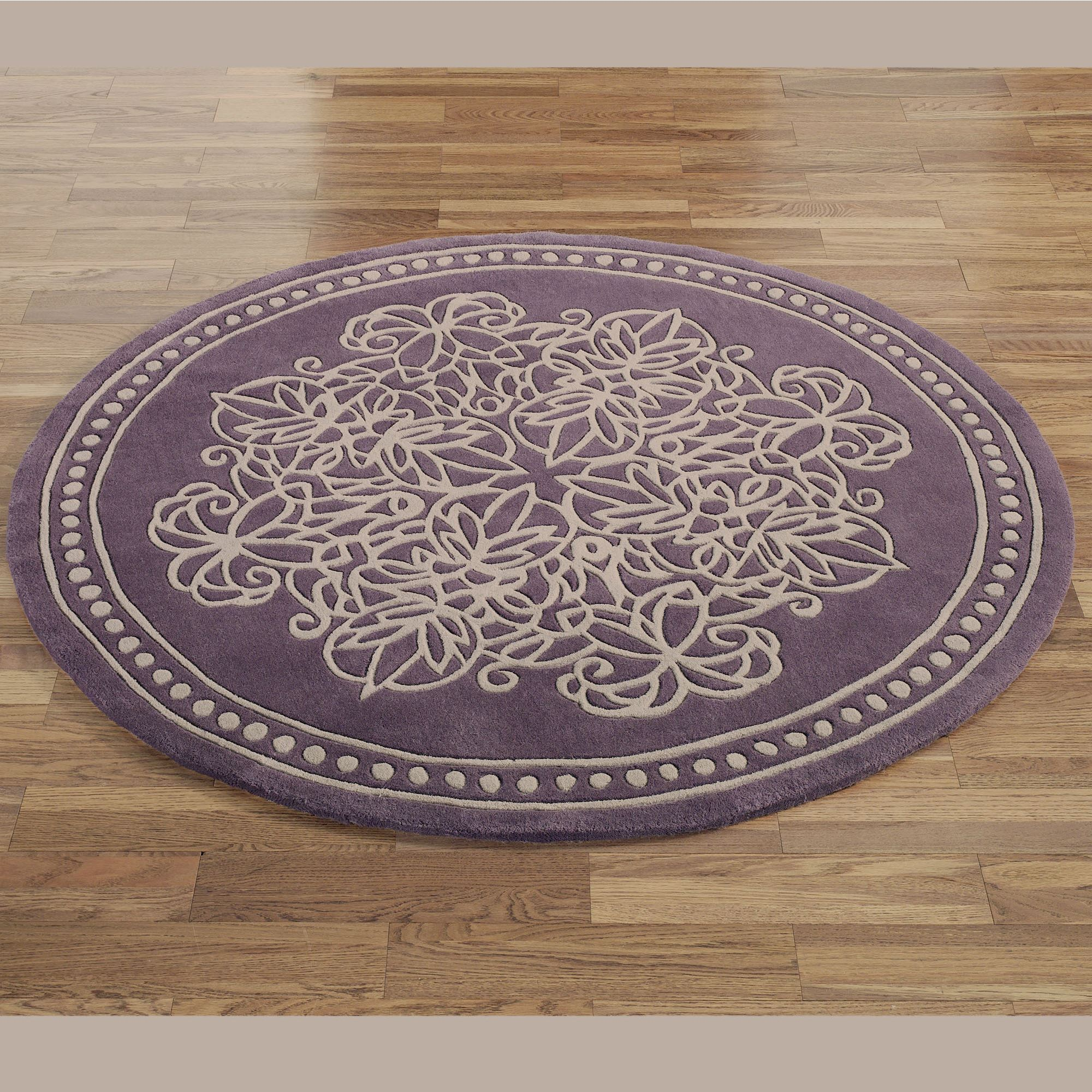 Flower Factory Home Decor Vintage Lace Round Rugs