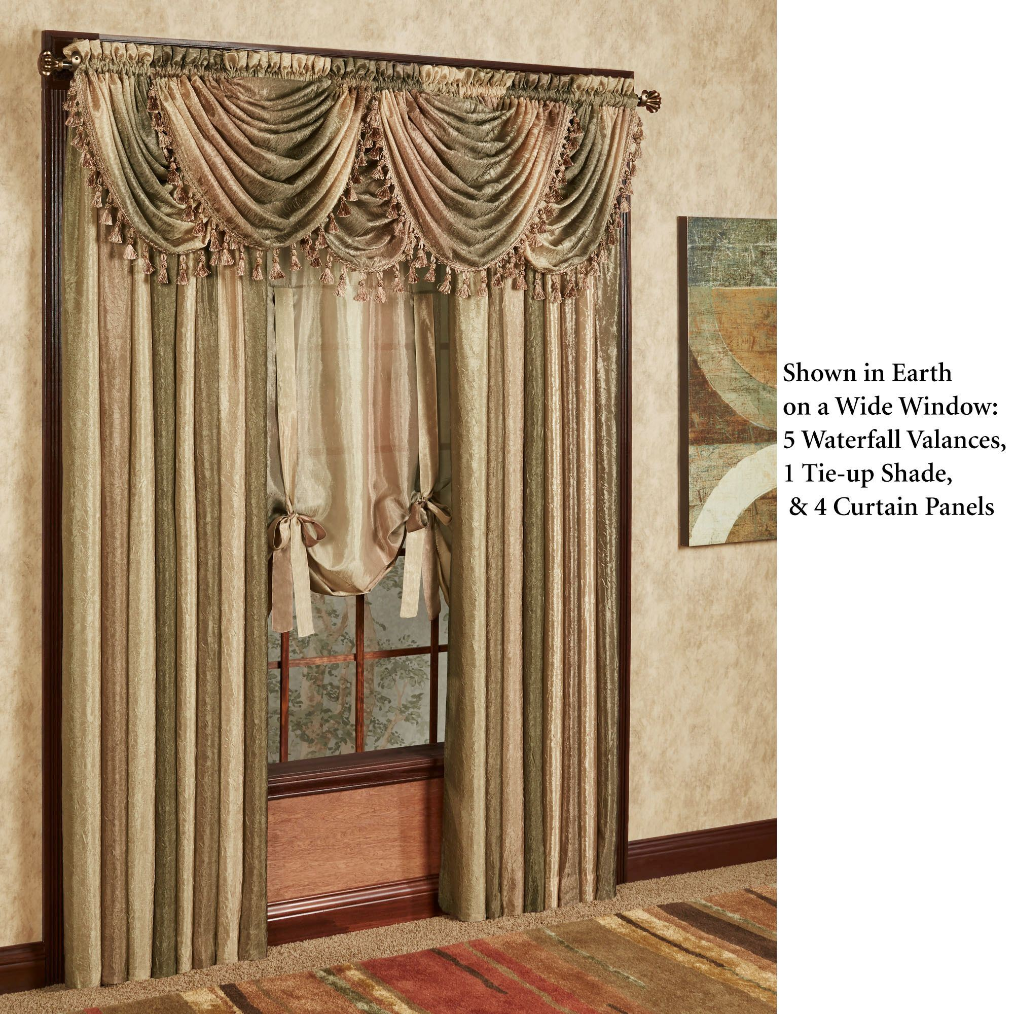 how garden free elrene shipping hang blend polyester valance waterfall product on all orders to seasons over overstock home
