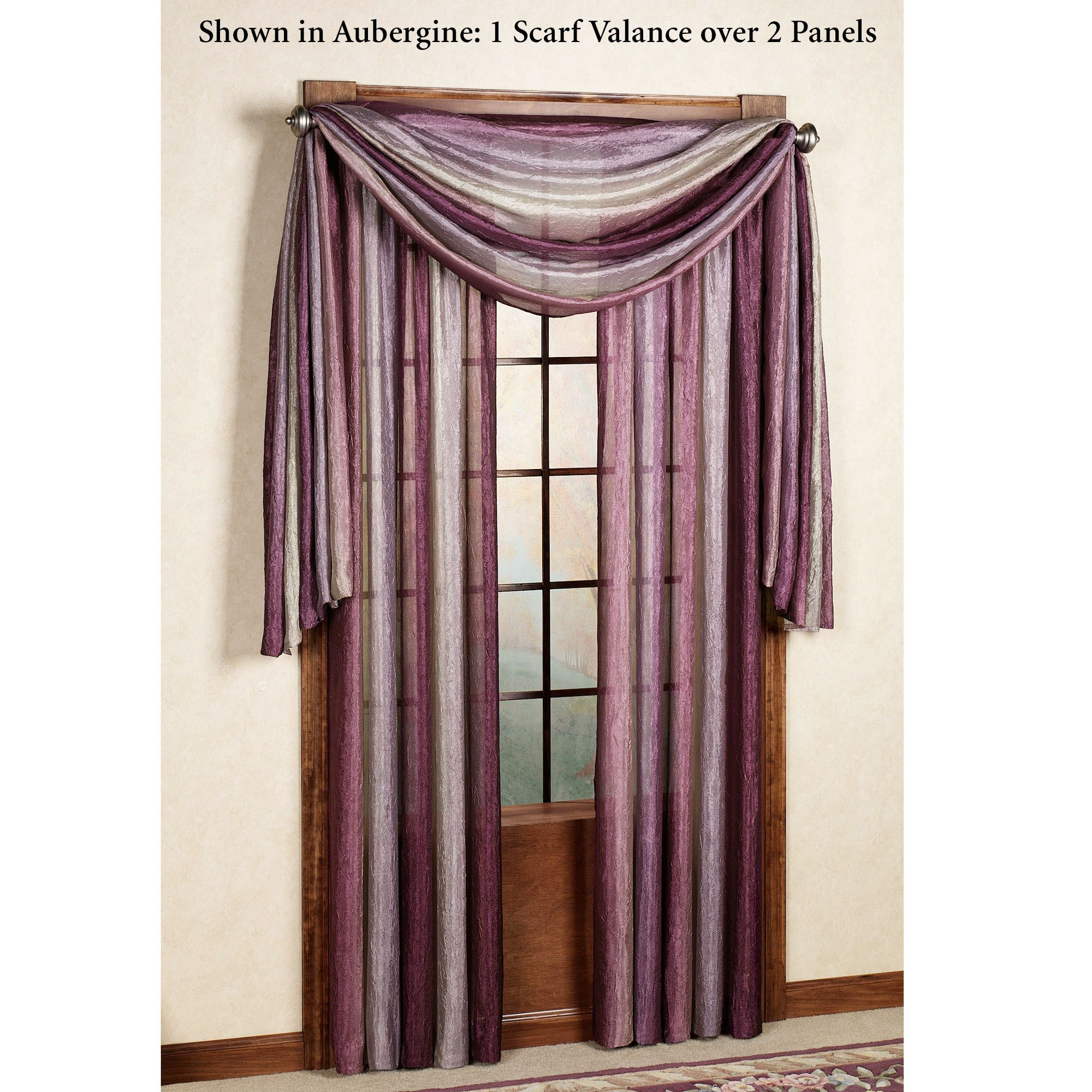 Ombre Semi Sheer Scarf Valance And