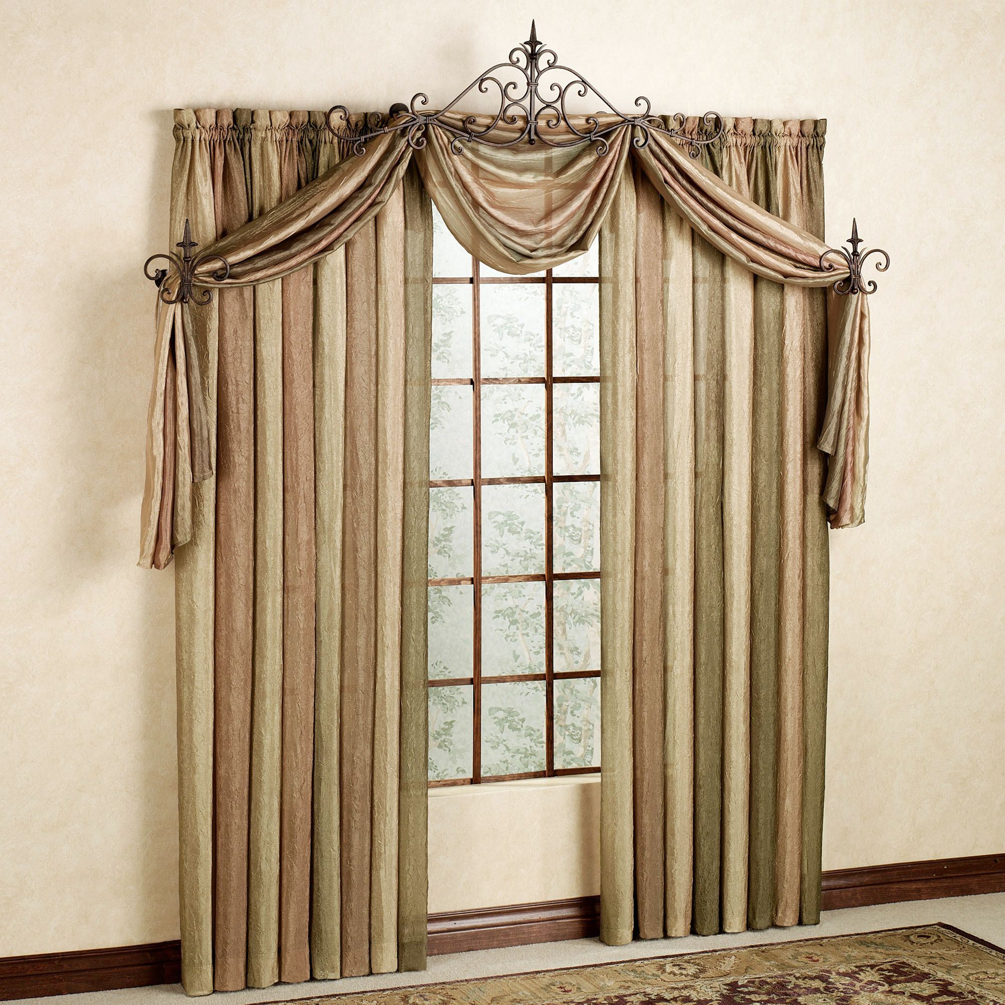 damask valance valances treatments wave x folk red ideas inch scarf treatment window