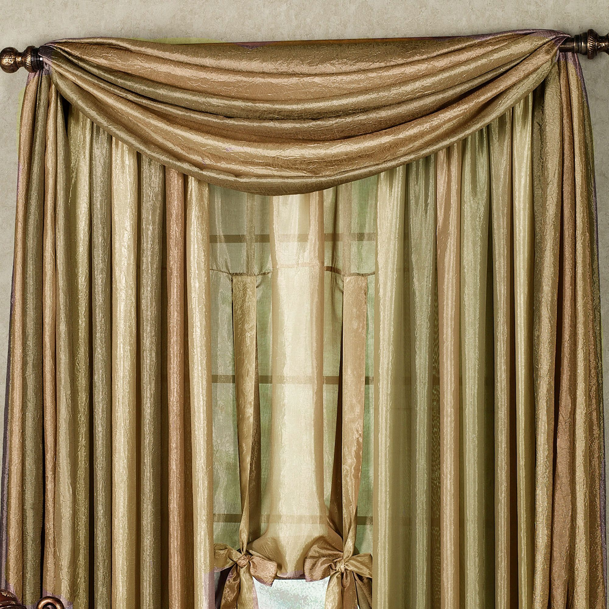 Ombre Semi-Sheer Scarf Valance and Window Treatments