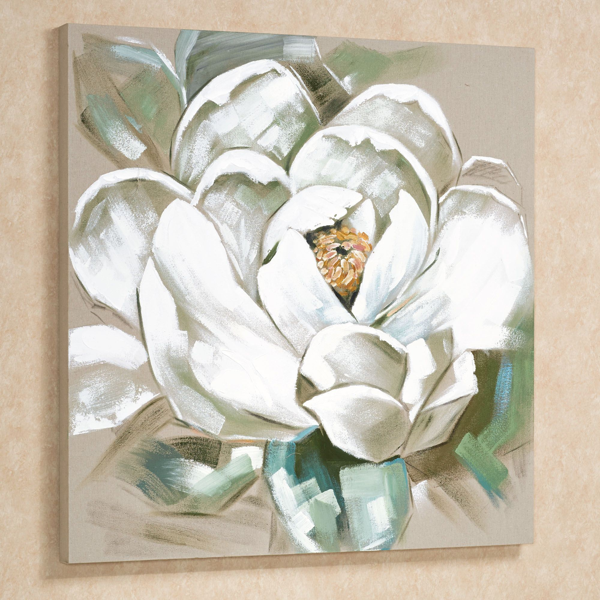 Magnificent Bloom Magnolia Floral Canvas Art