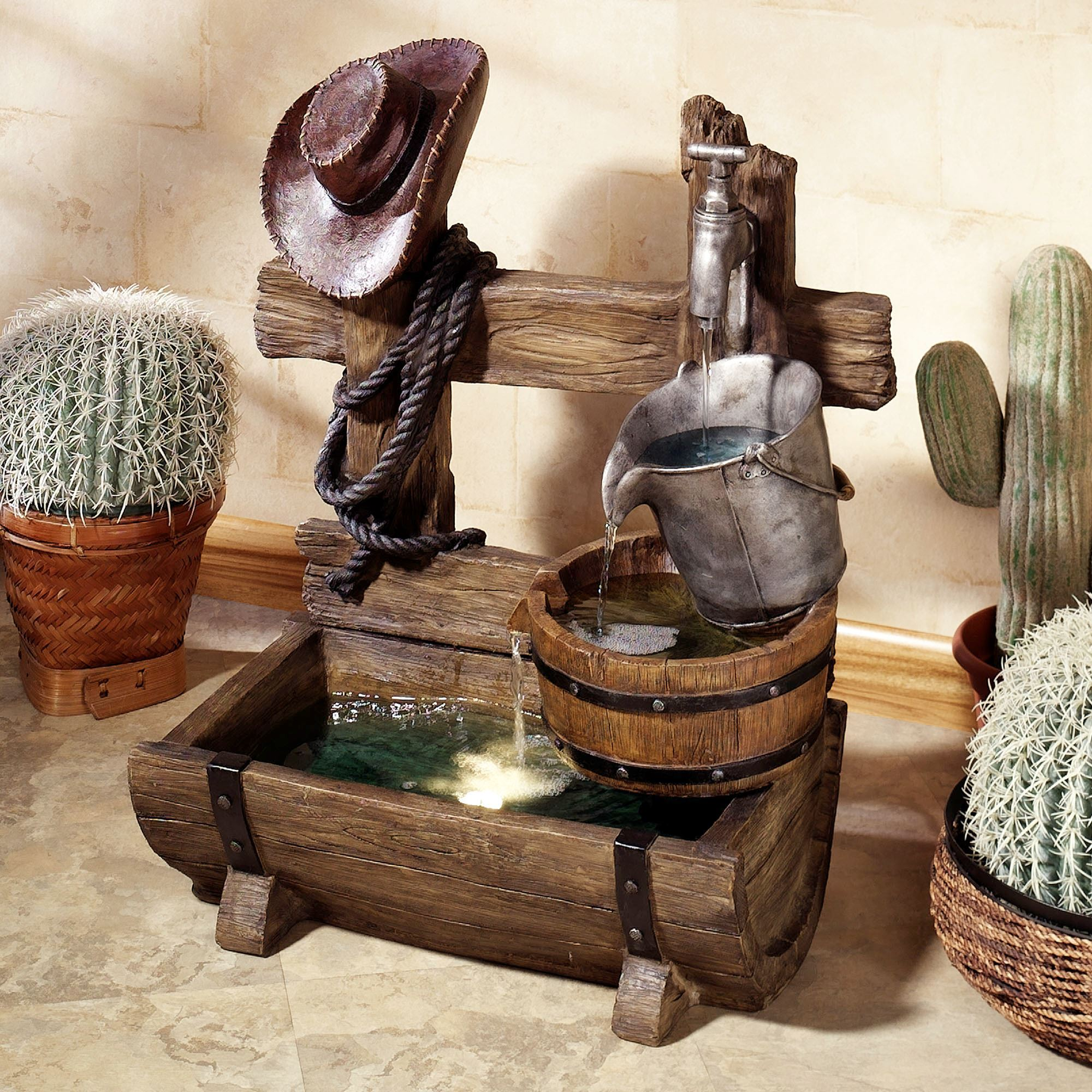 Ranch Living Indoor Outdoor Water Fountain