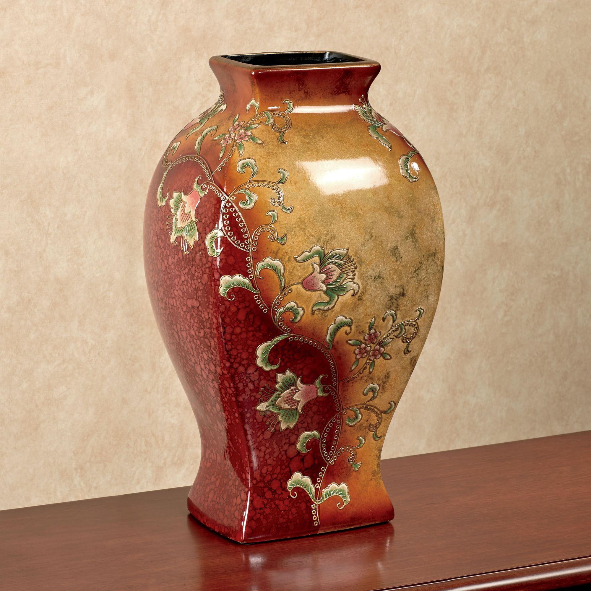 Table vases floor vases decorative jars touch of class haikou ceramic decorative floral table vase reviewsmspy