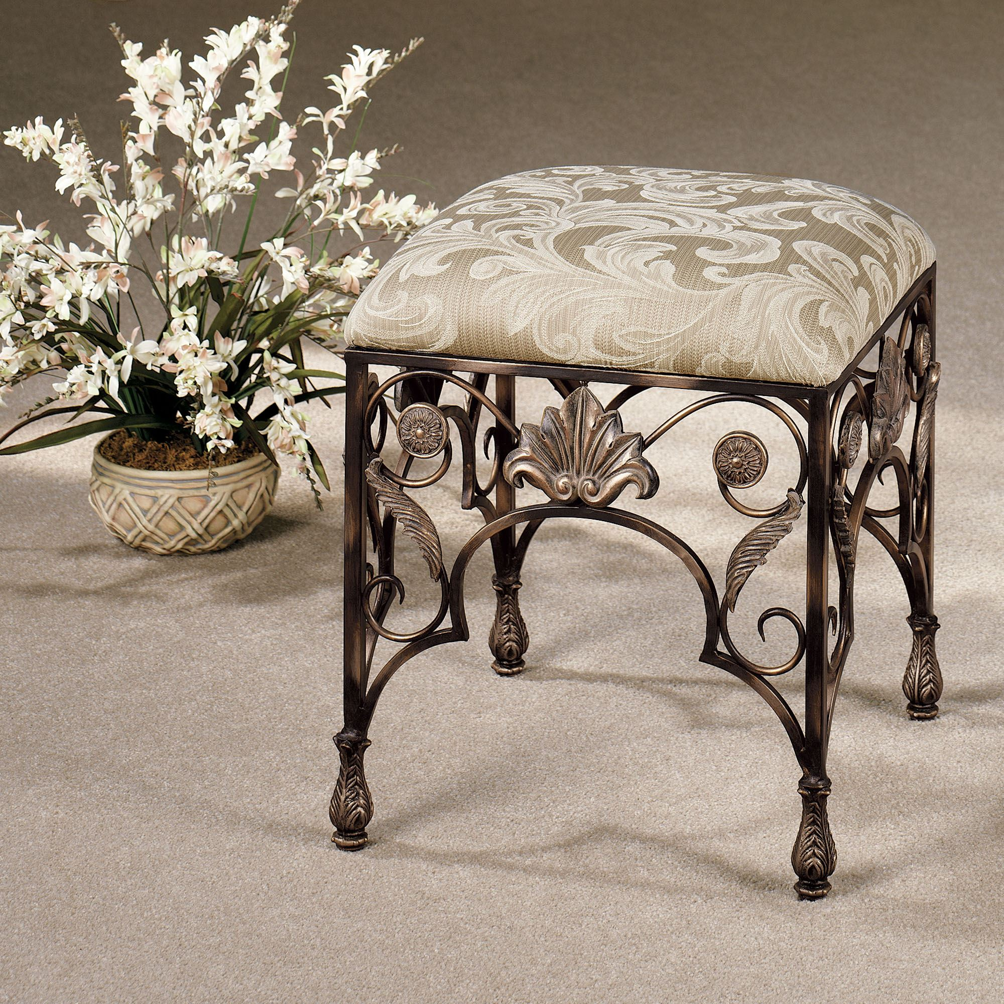 Raina Upholstered Vanity Stool