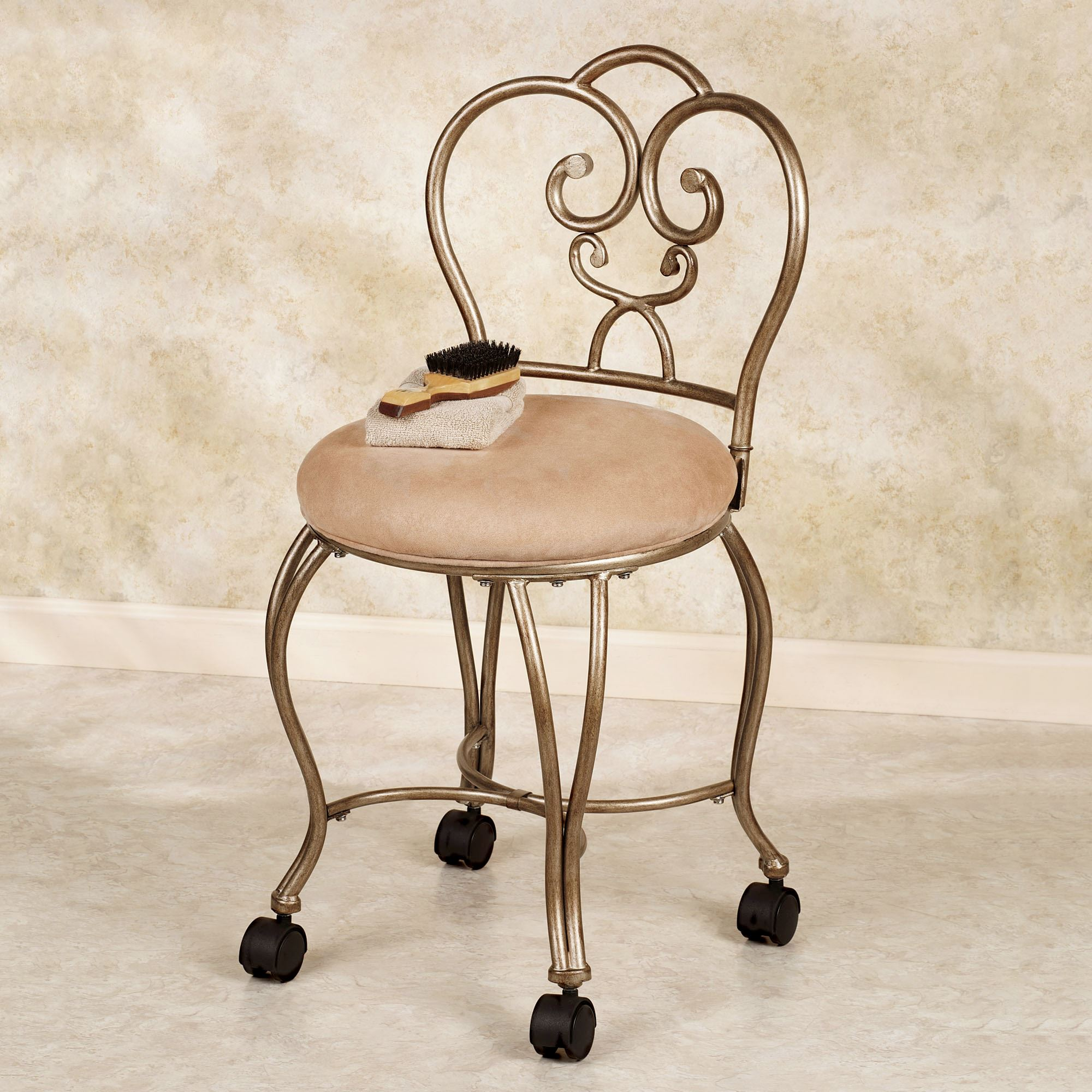 Lecia Vanity Chair Touch To Zoom