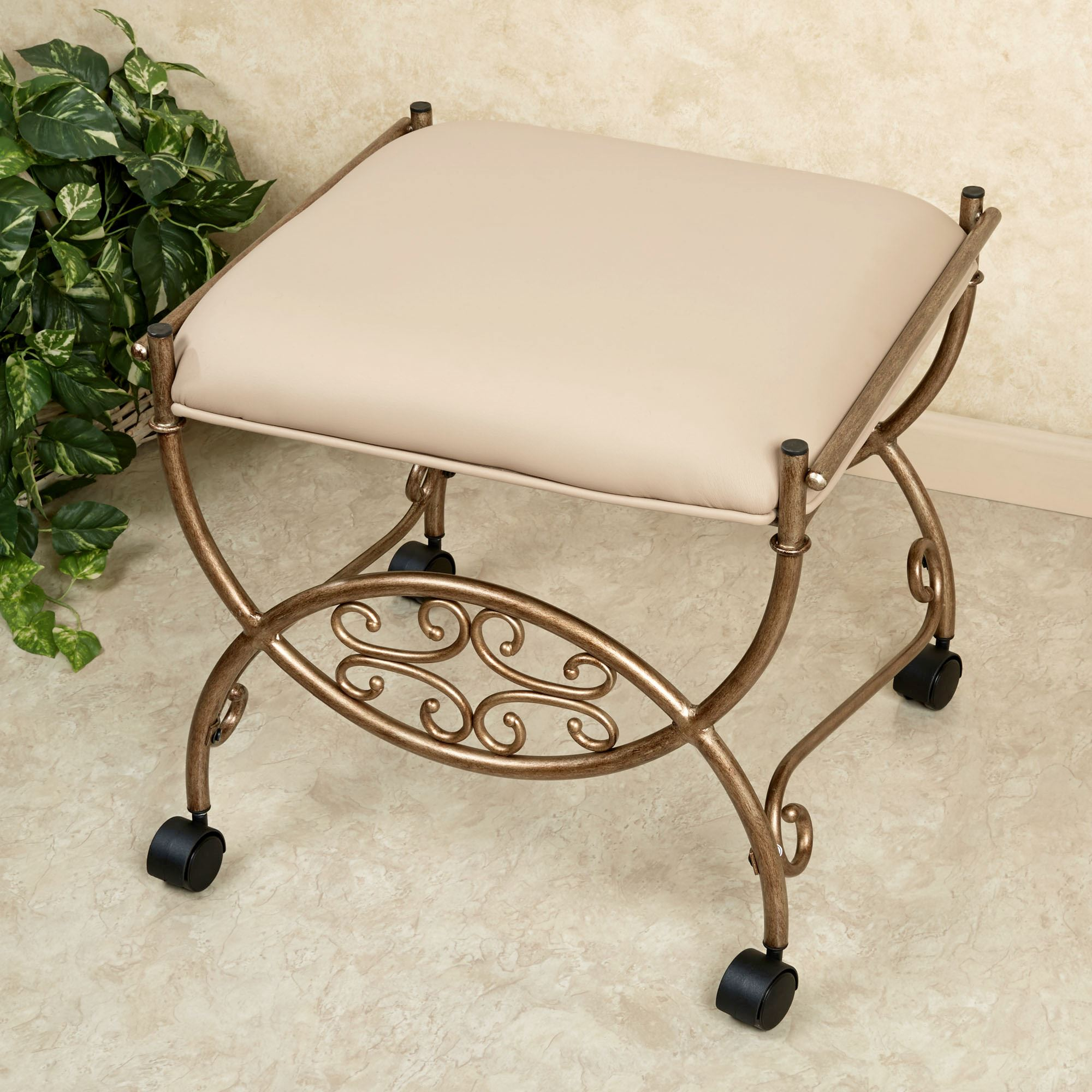 square linen clear lucite detail for stool with product bedroom acrylic vanity bench cushion