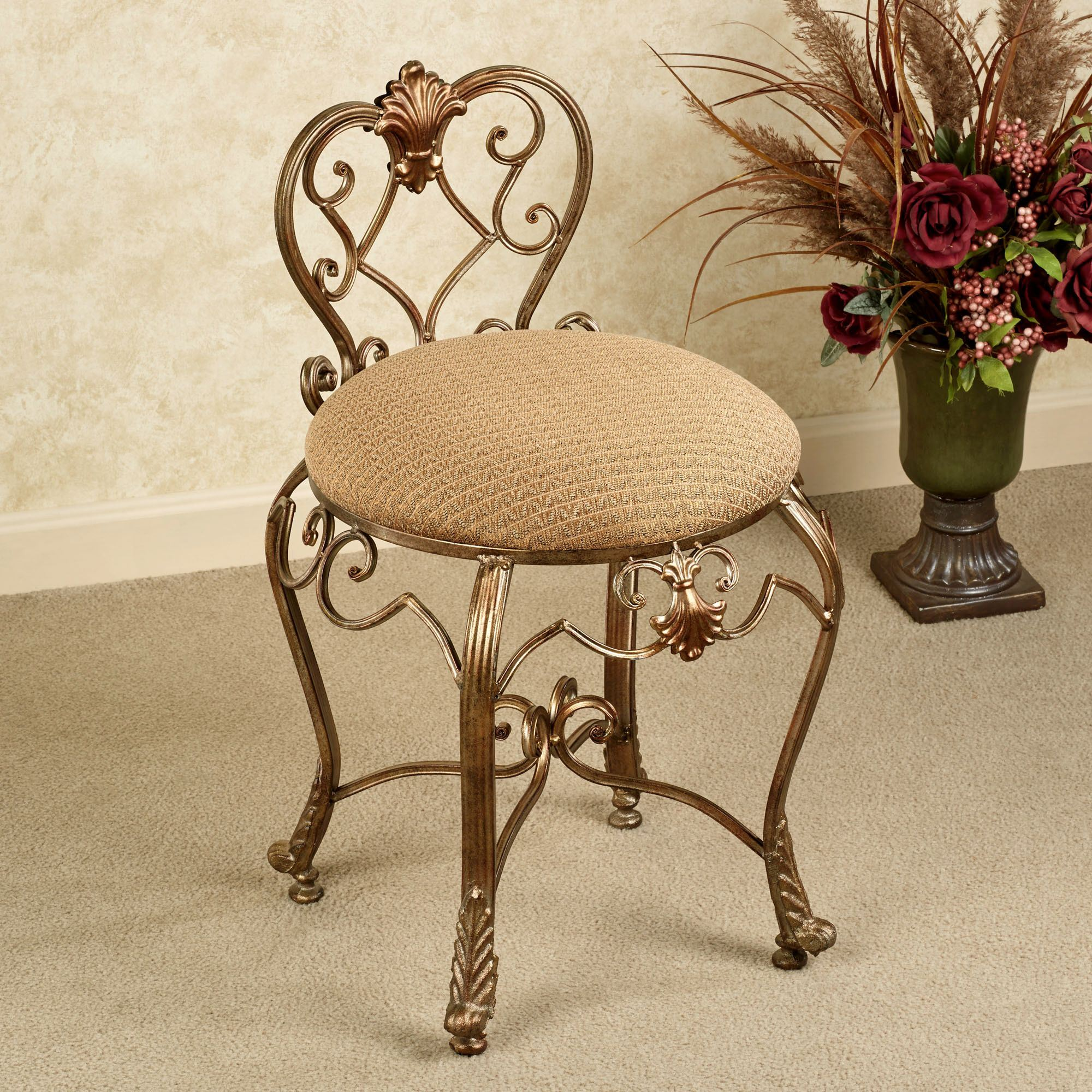 Etonnant Stratton Vanity Chair. Touch To Zoom