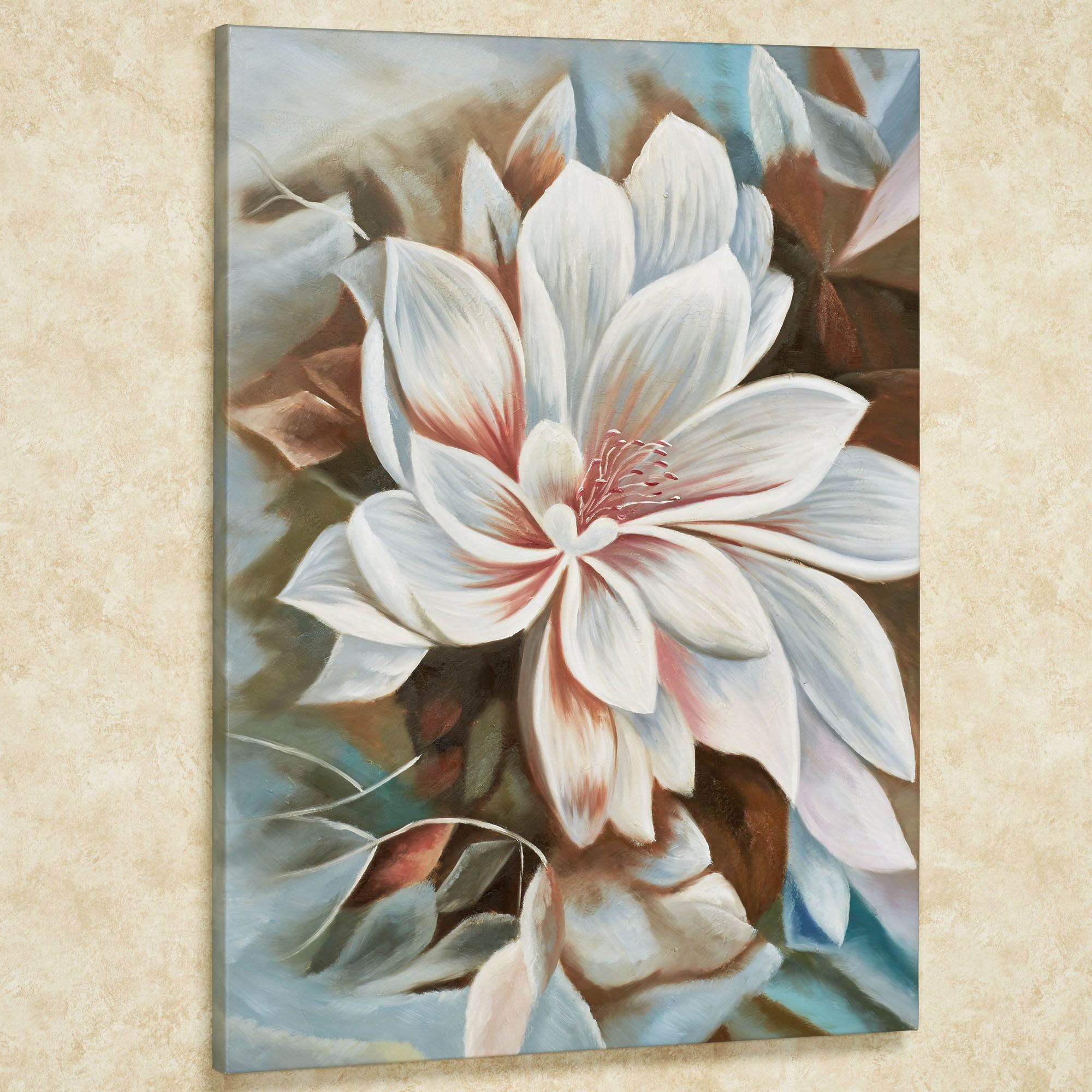 Bursting Beauty Magnolia Floral Canvas Wall Art