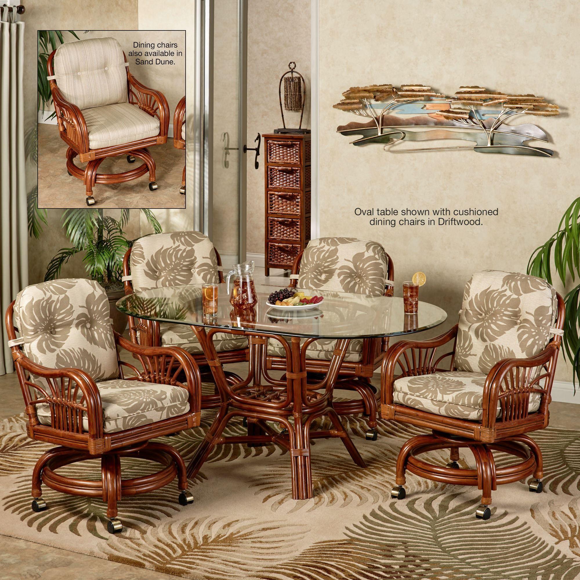Leikela Rattan Tropical Dining Furniture Set