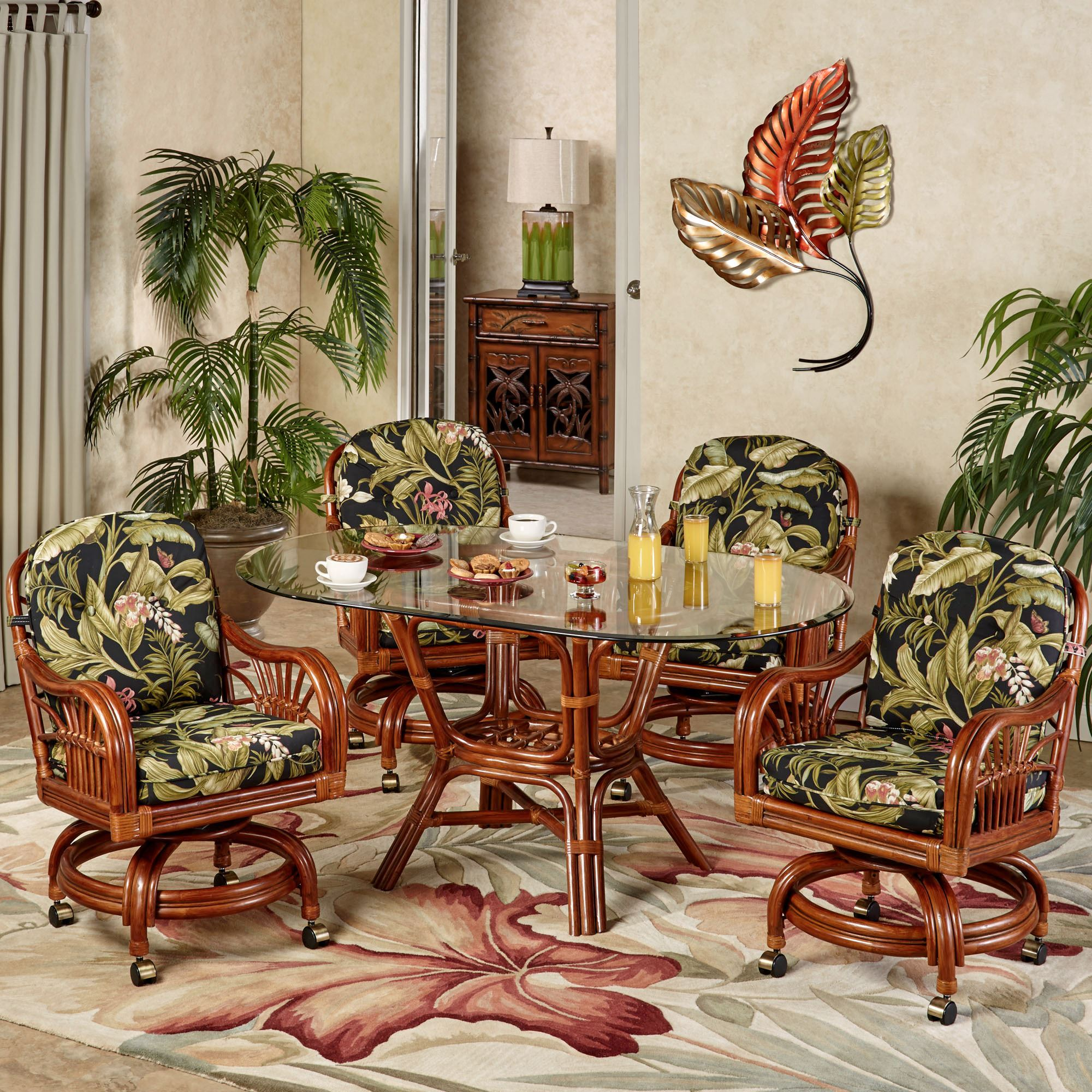 Leikela Oval Dining Table With Caster Chairs Wailea Coast Oval Set Of Five