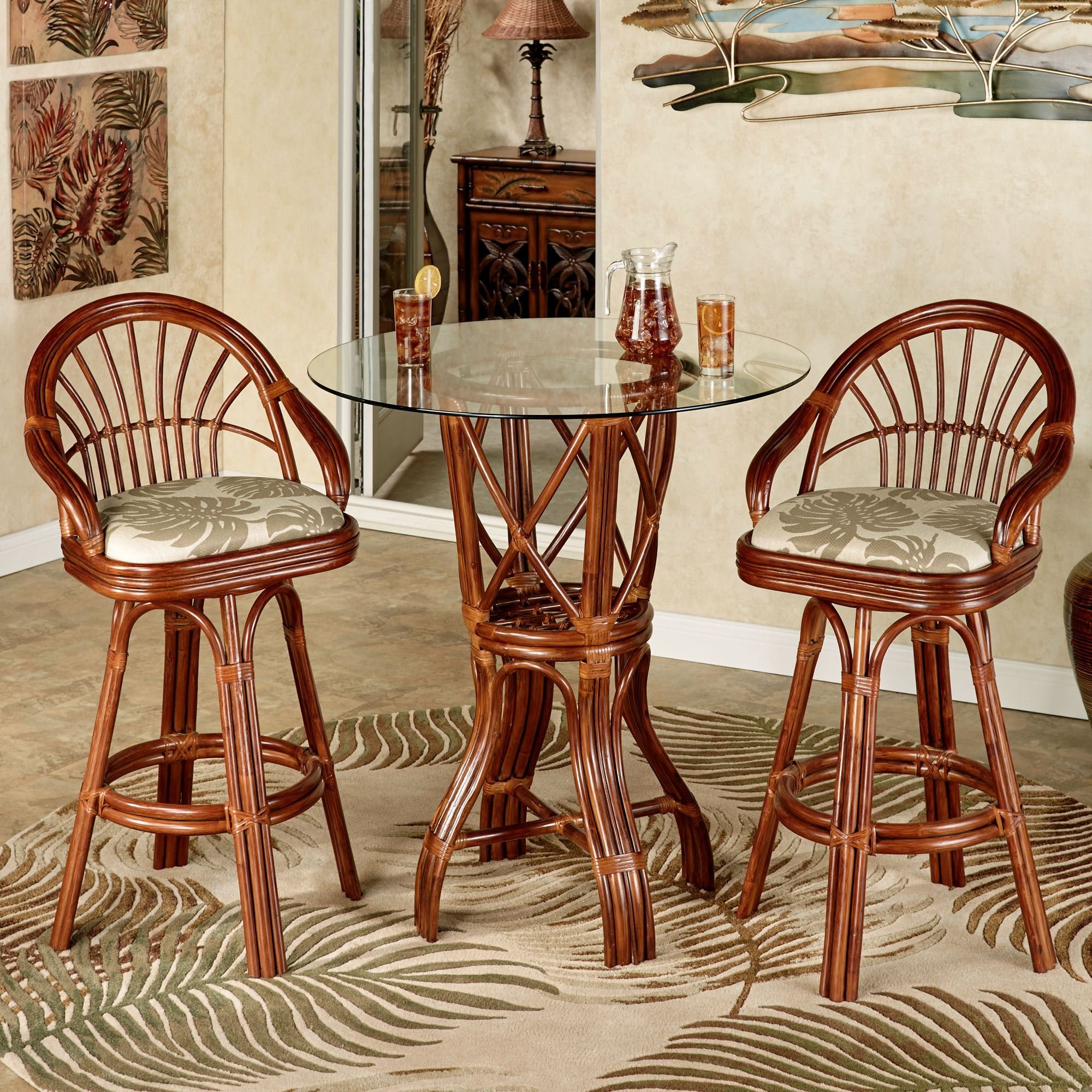 Leikela Rattan Tropical Bistro Furniture Set