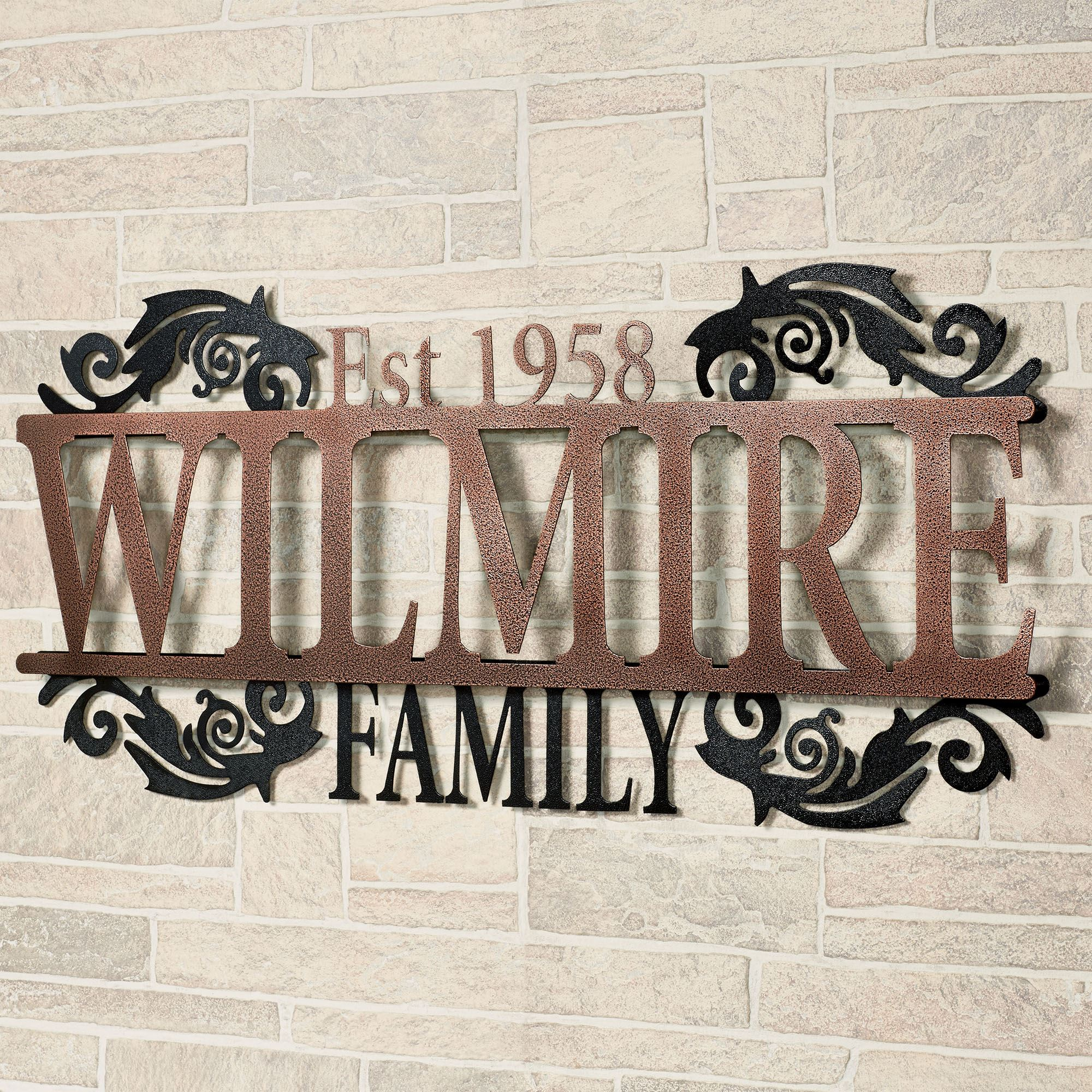 Legacy Family Established Year Personalized Metal Wall Art
