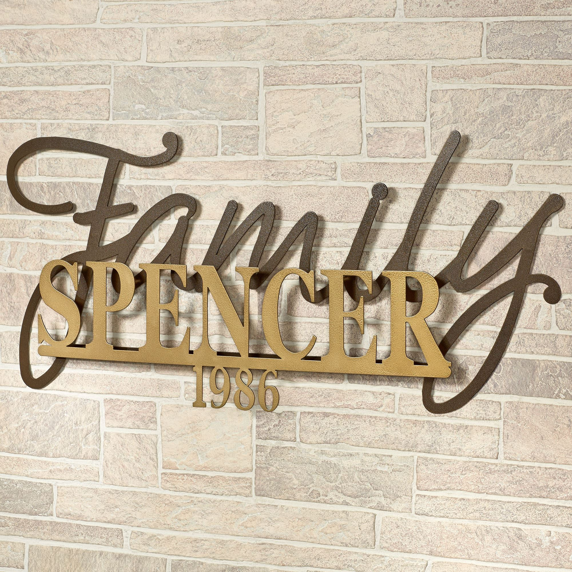 Metal Wall Signs Signature Established Year Personalized Metal Wall Art Sign