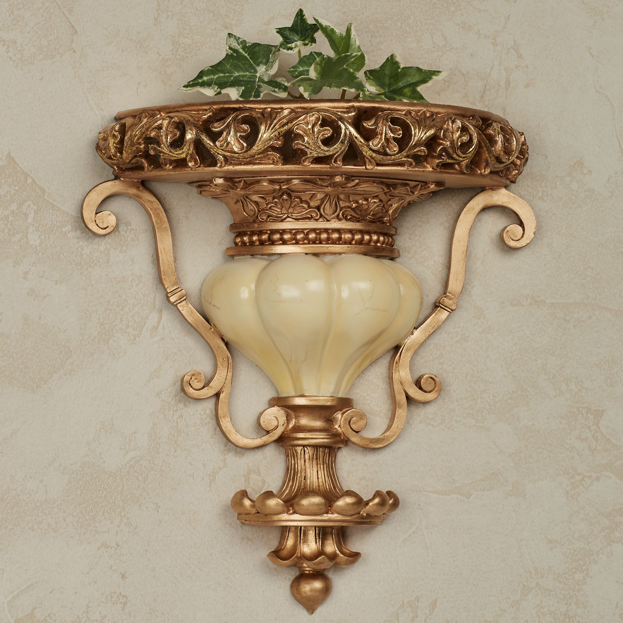 Chalmette Decorative Wall Shelf. Chalmette Wall Shelf Gold/Ivory. Click To  Expand